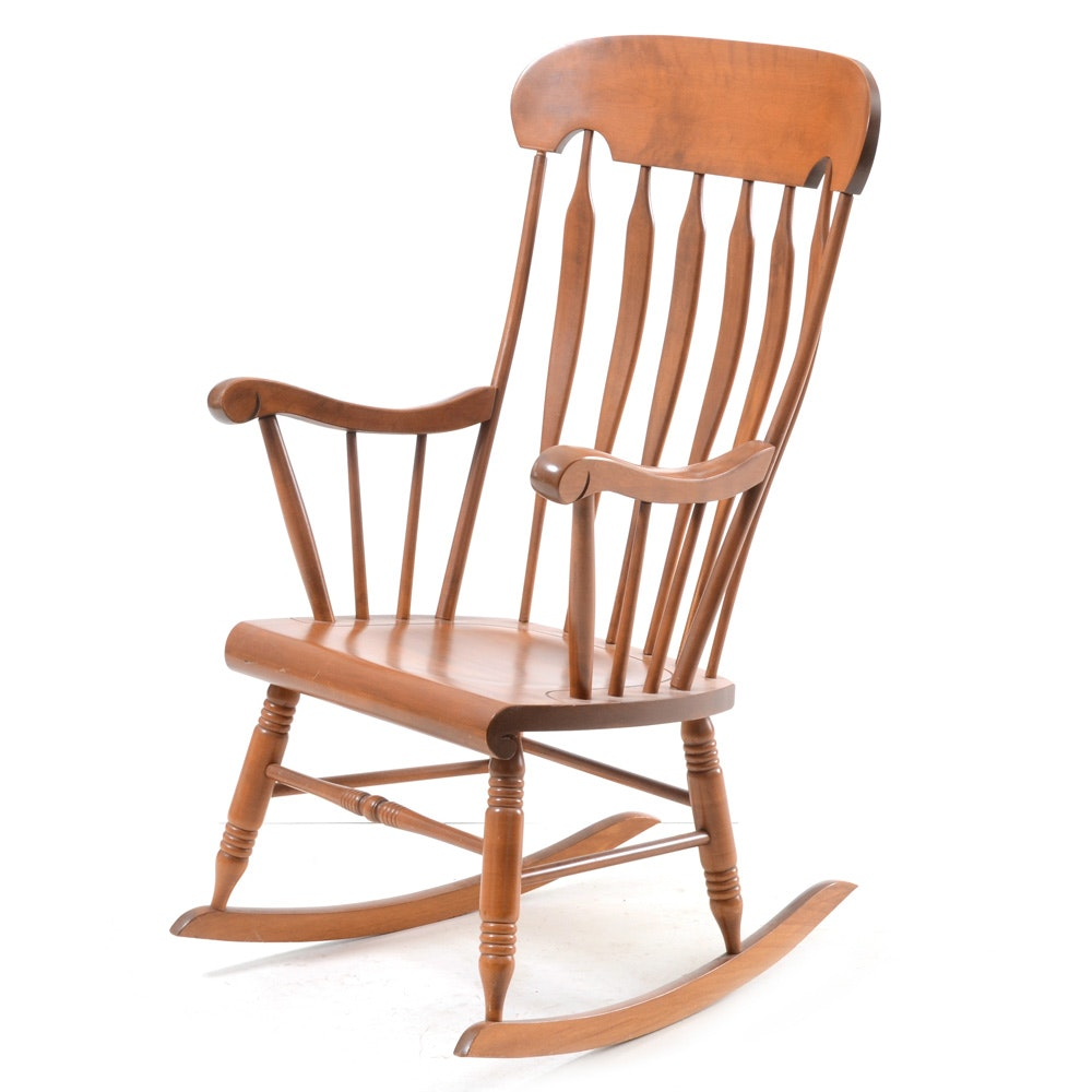 S. Bent and Brothers Colonial Style Rocking Chair