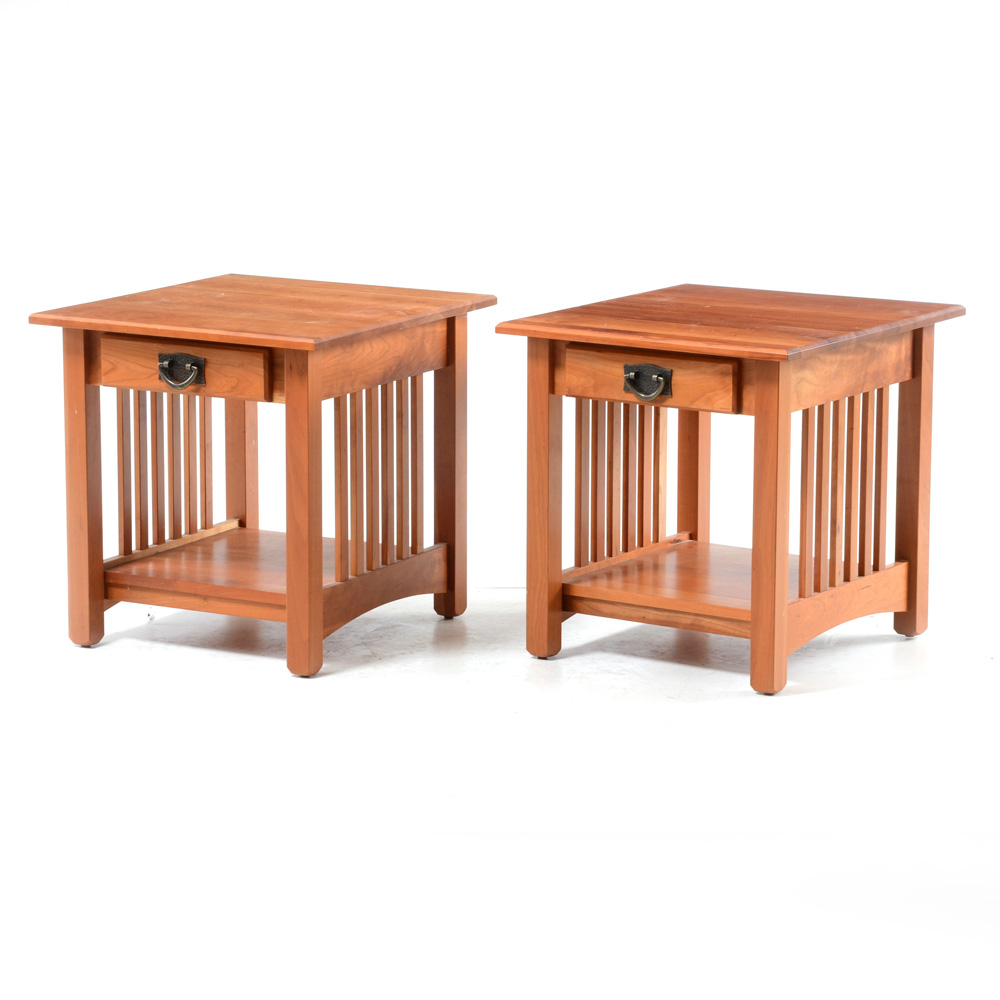 Cherry Mission Style End Tables EBTH