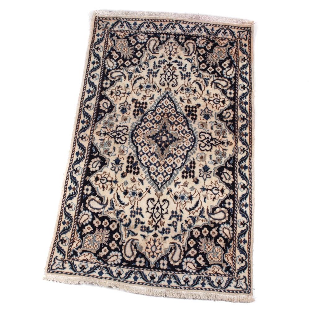 Hand-Knotted Persian Nain Rug