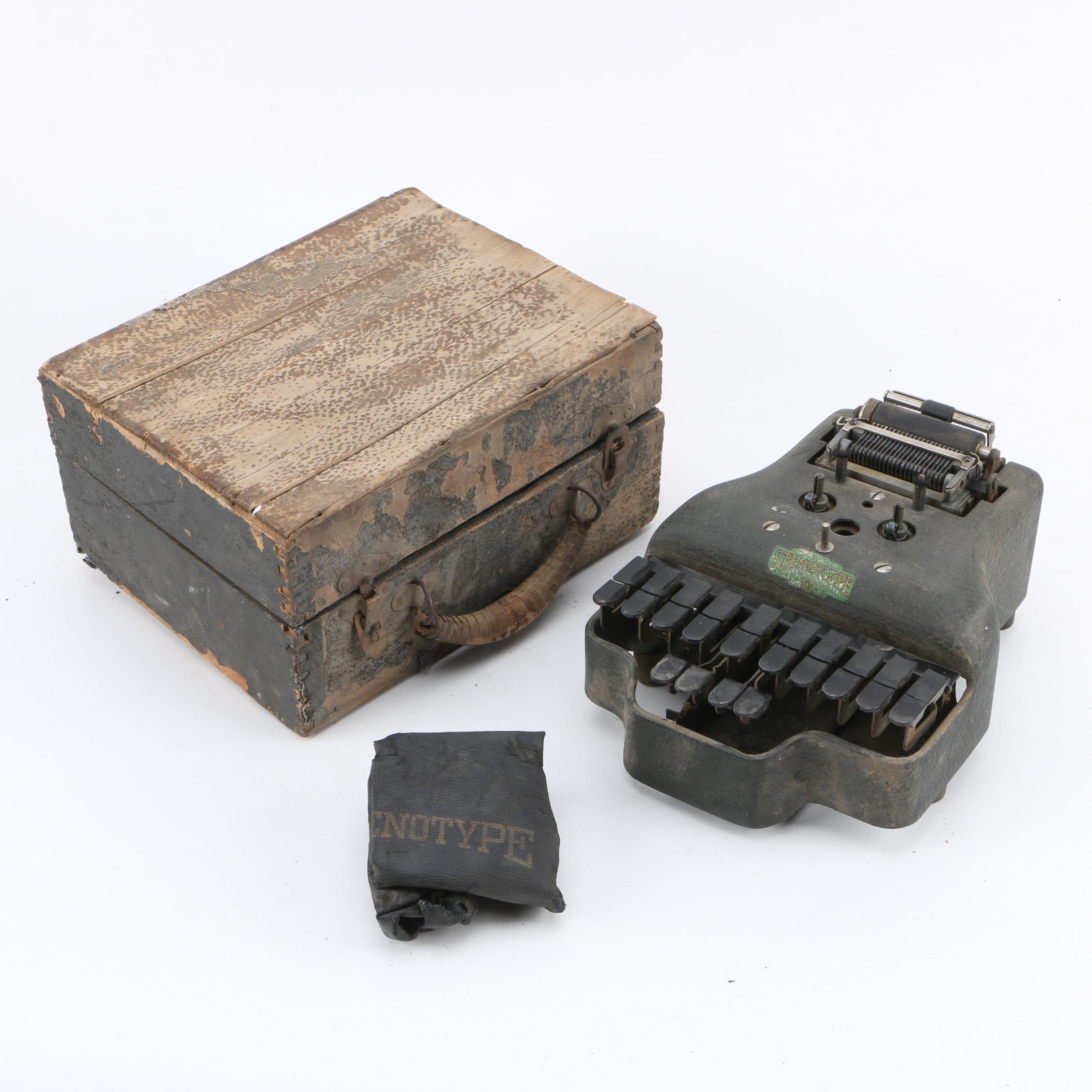 1930s-Era LaSalle Master Model Four Stenotype Machine with Case