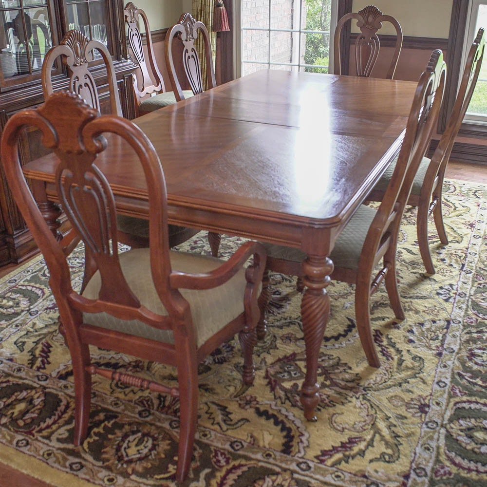 Chippendale Style Dining Table and Six Chairs