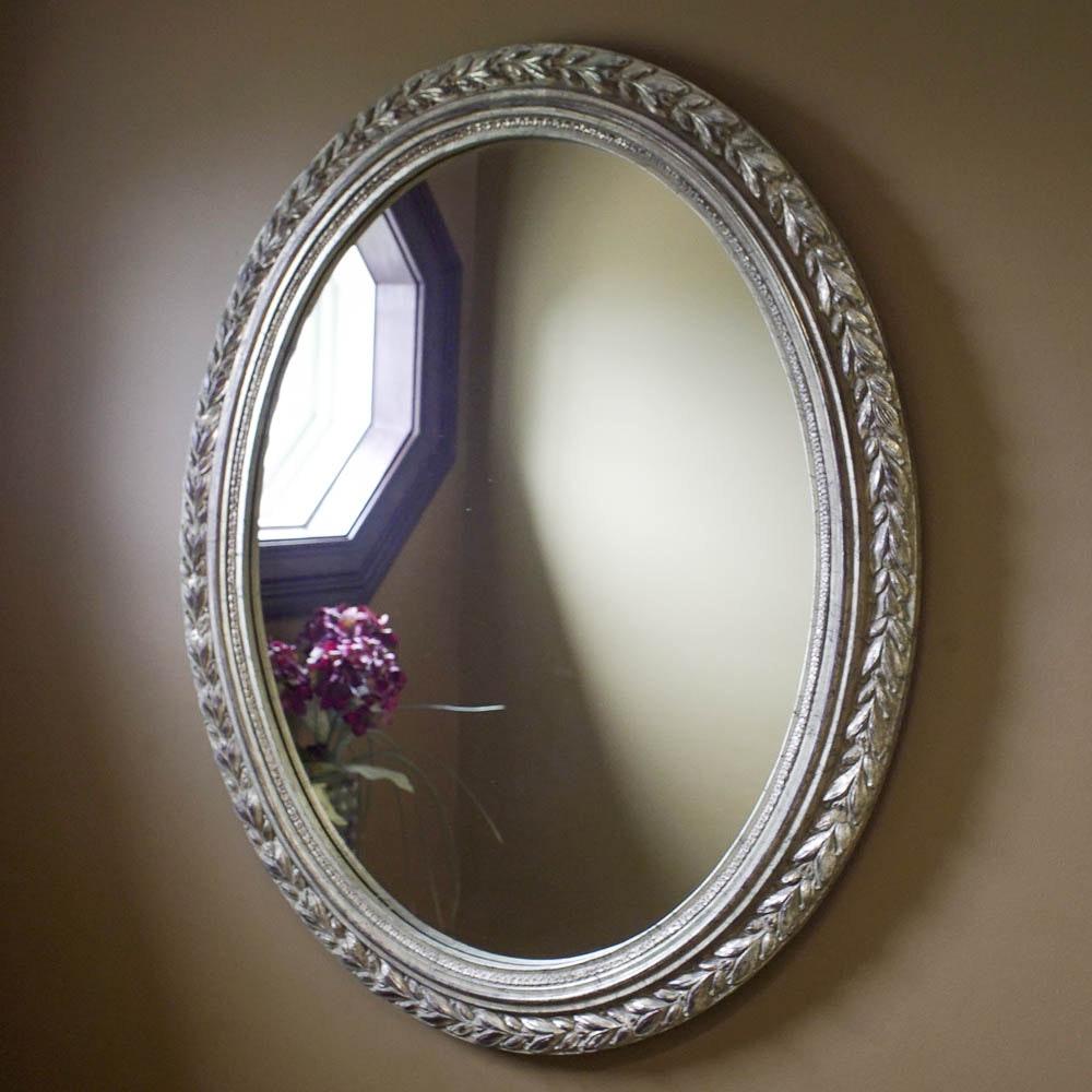 Foliate Themed Oval Wall Mirror