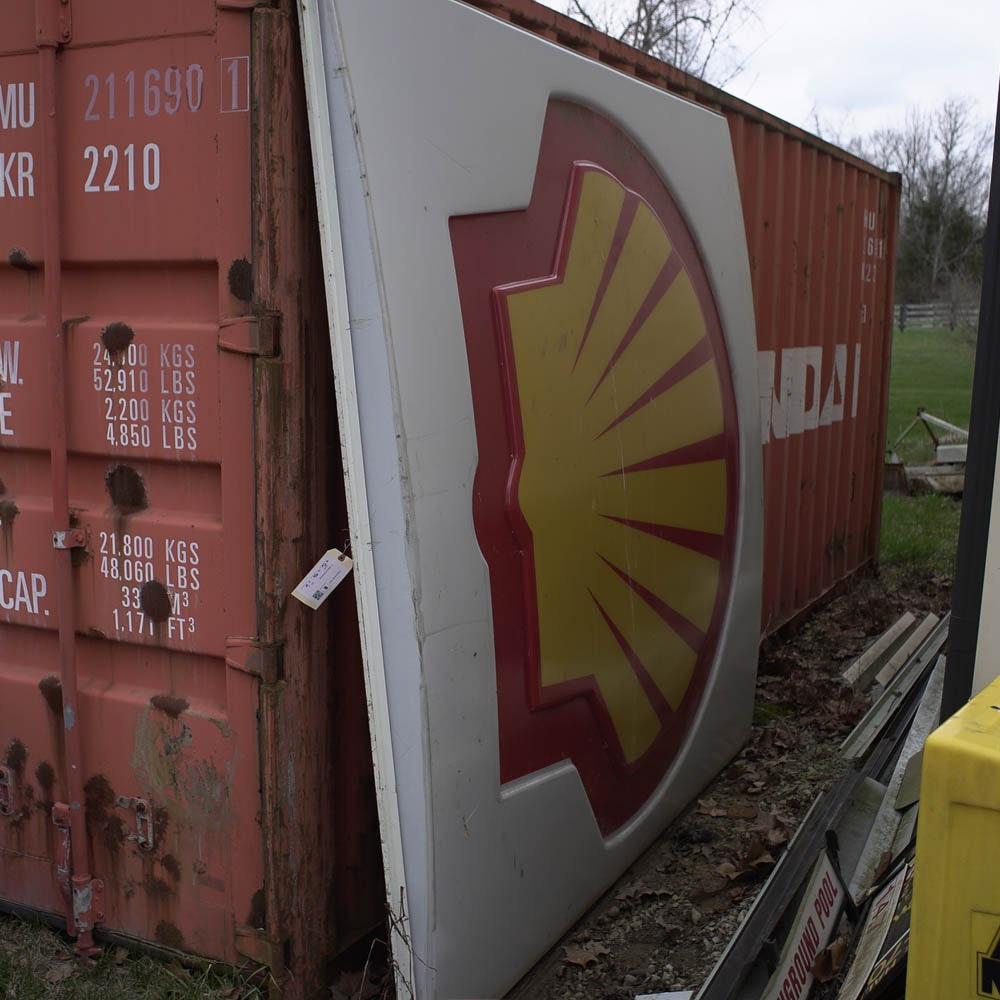 Vintage Shell Station Sign