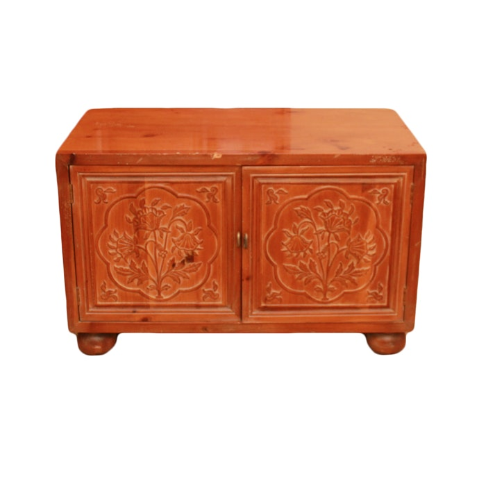 Vintage Asian Style Carved Cabinet