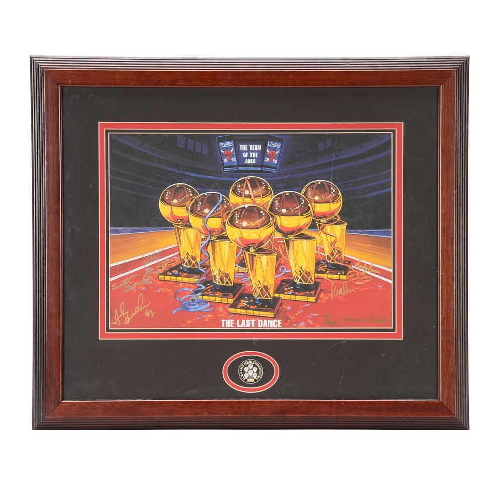 Chicago Bulls Signed Limited Print