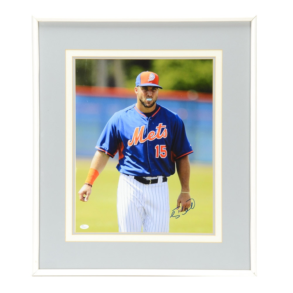 Tim Tebow Signed Mets Photo  COA