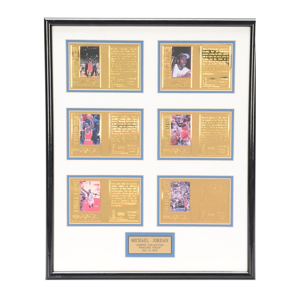 1998 Michael Jordan Upper Deck Printers Proof Framed Card Display 126/323