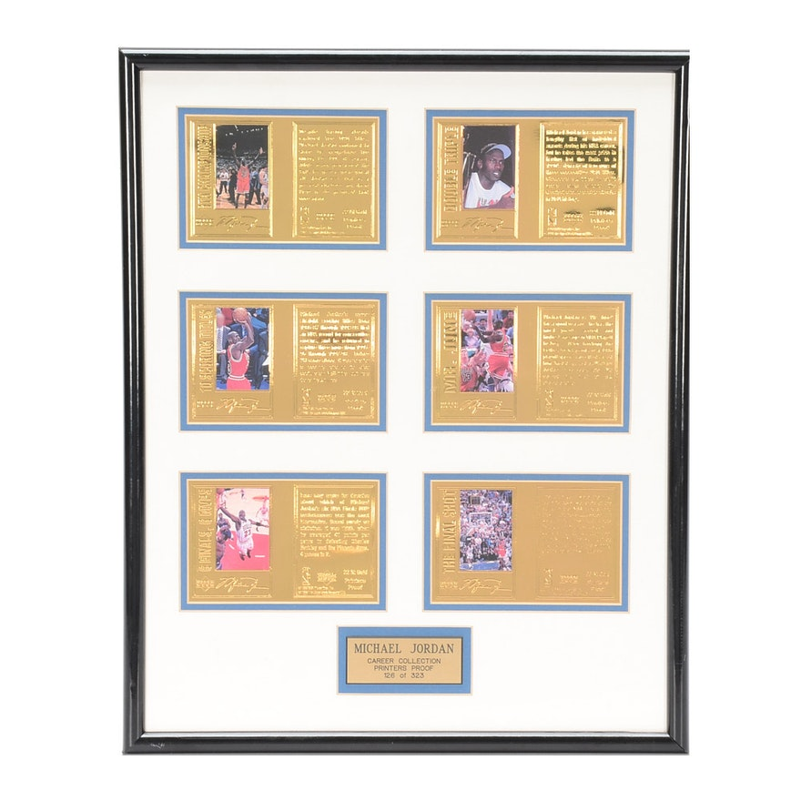 1998 Michael Jordan Upper Deck Printers Proof Framed Card Display ...