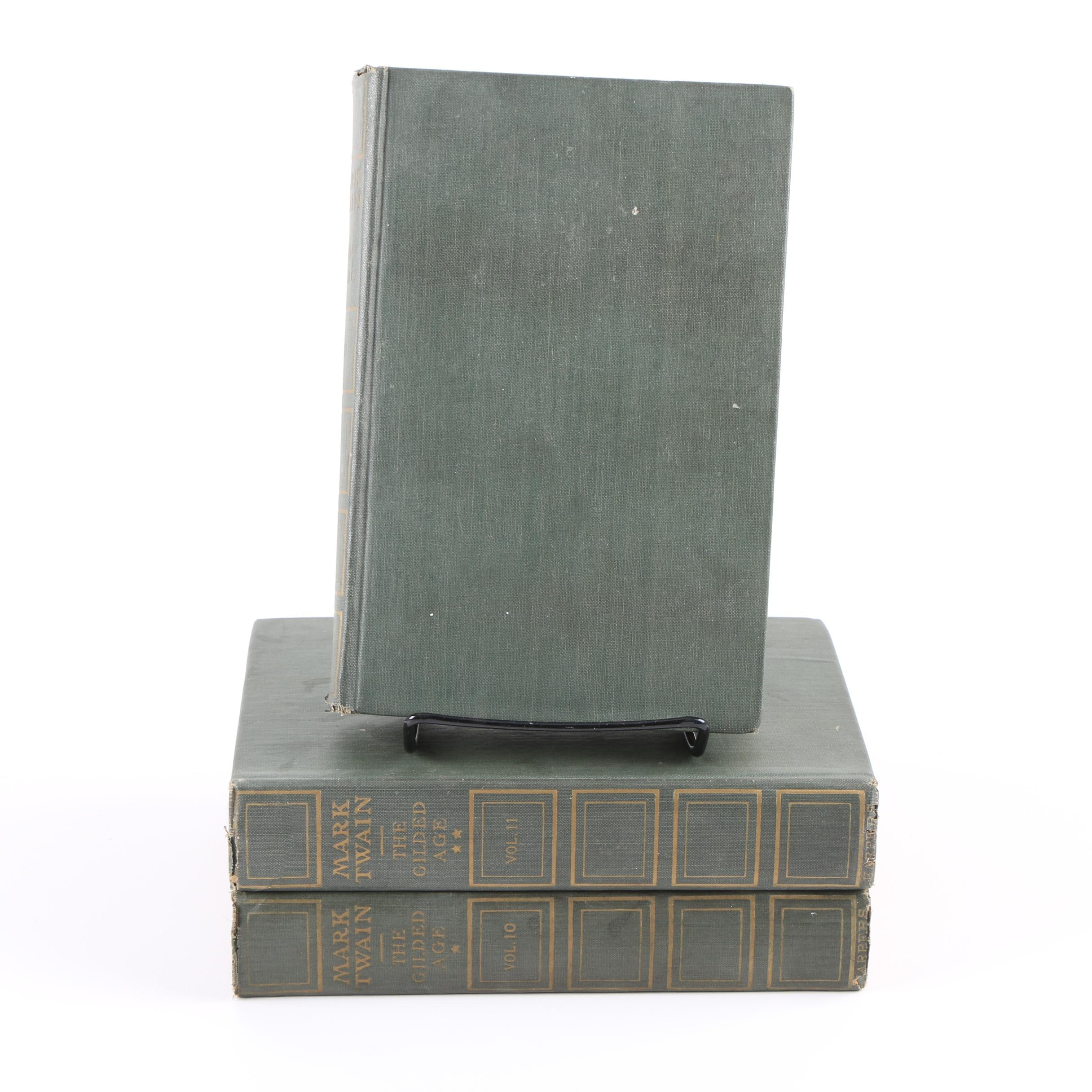 "Twentieth-Century Mark Twain Volumes Including ""The Gilded Age"""