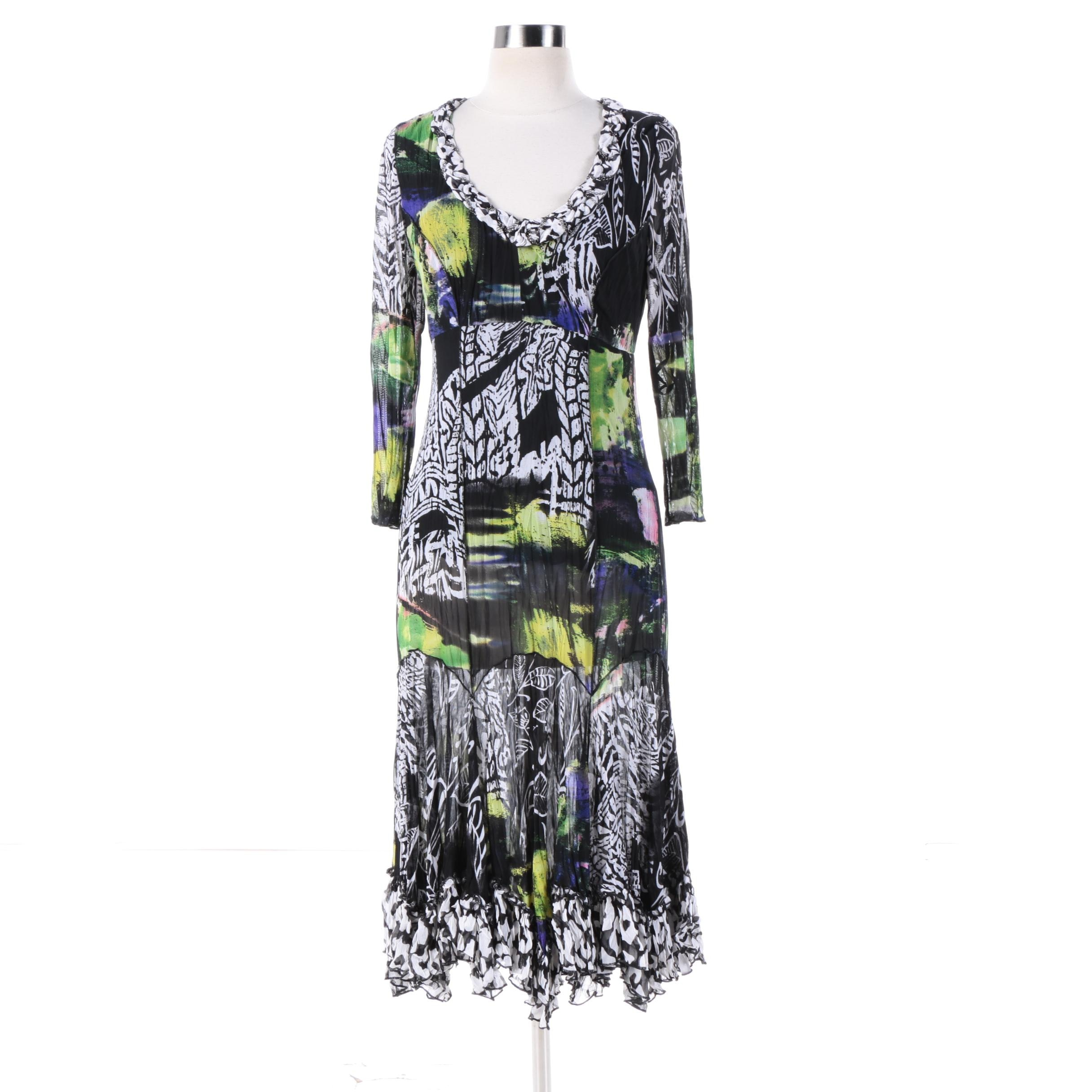 Alberto Makali Mixed Print Dress
