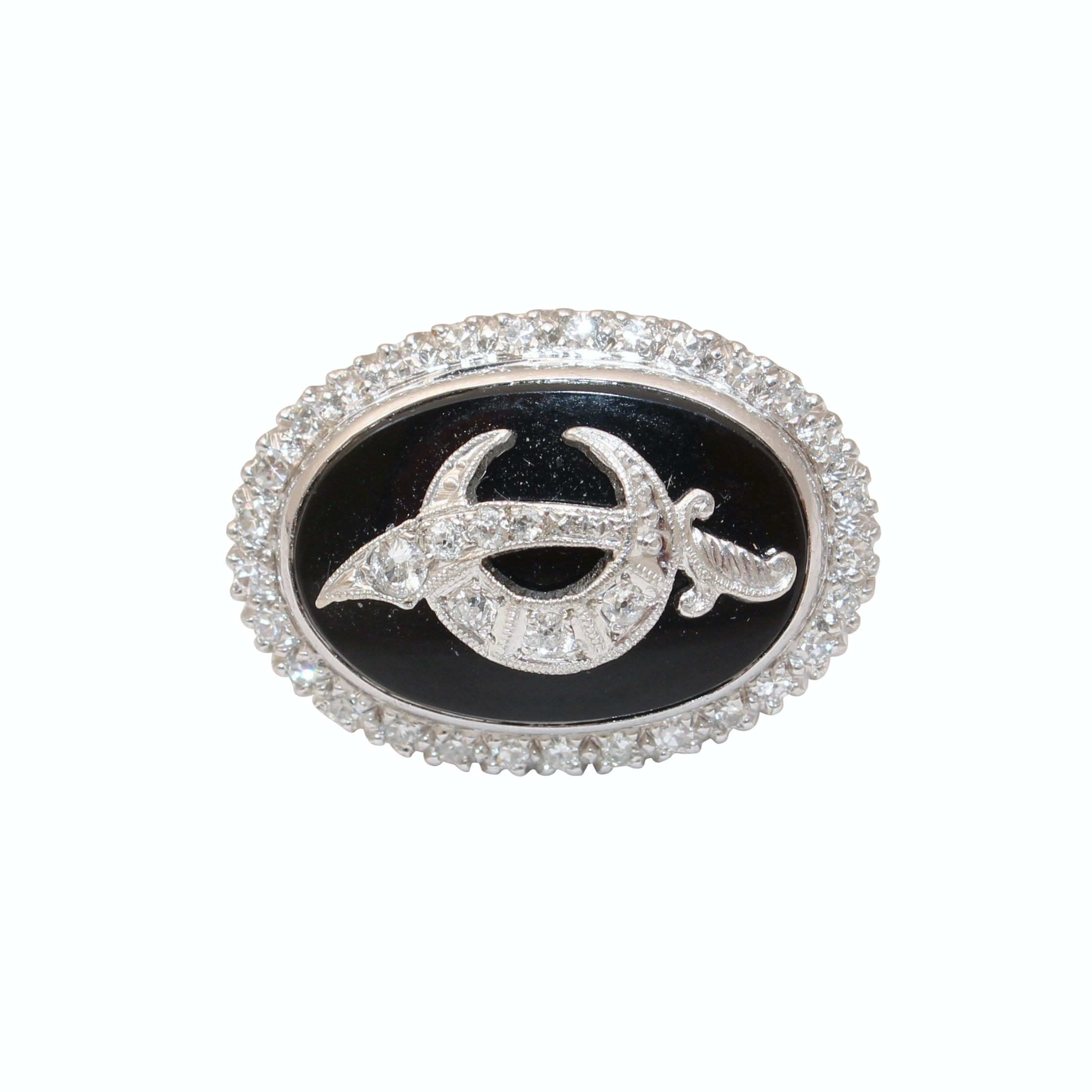 Platinum 0.42 CTW Diamond Shriner Ring