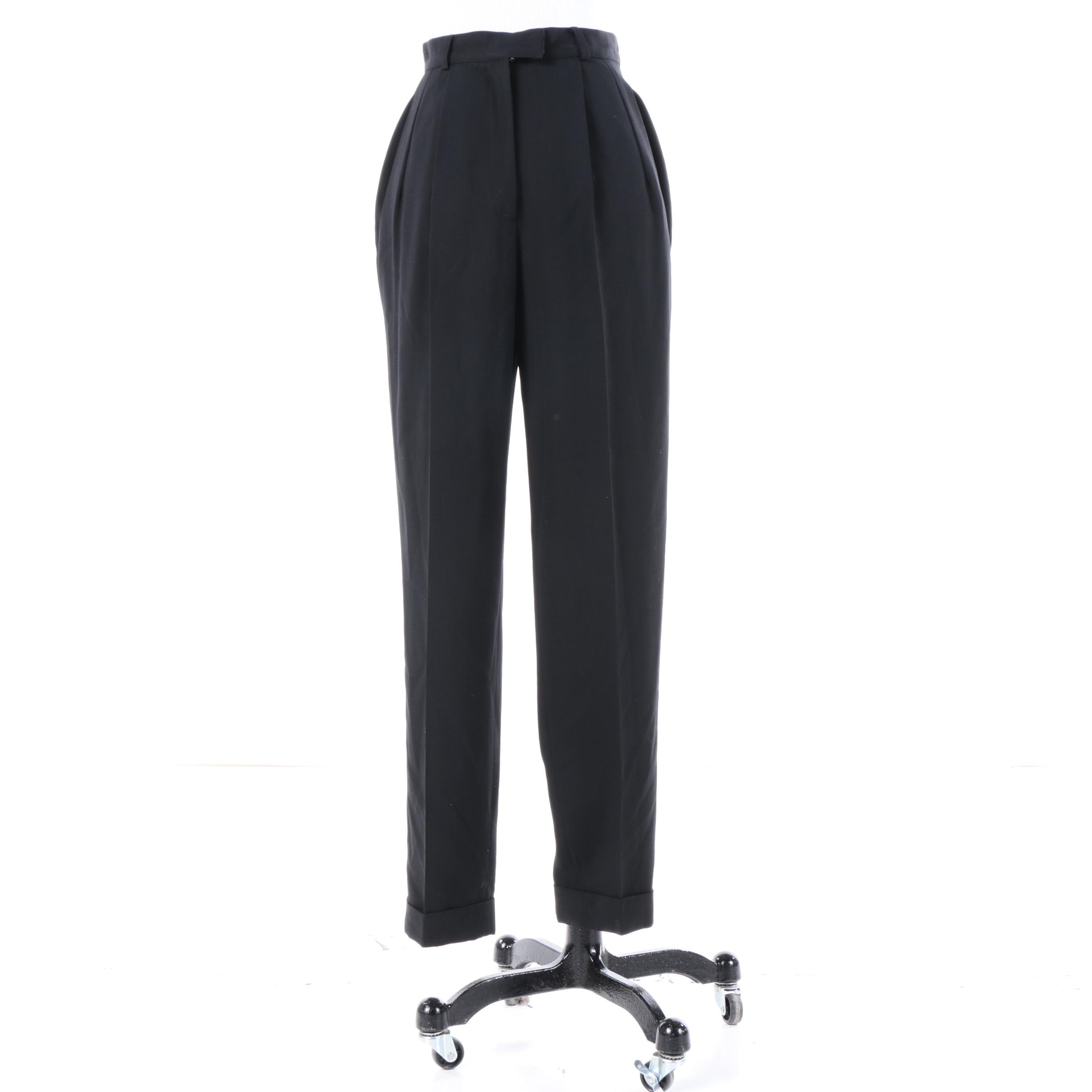 Women's Michael Kors Black Wool Pants
