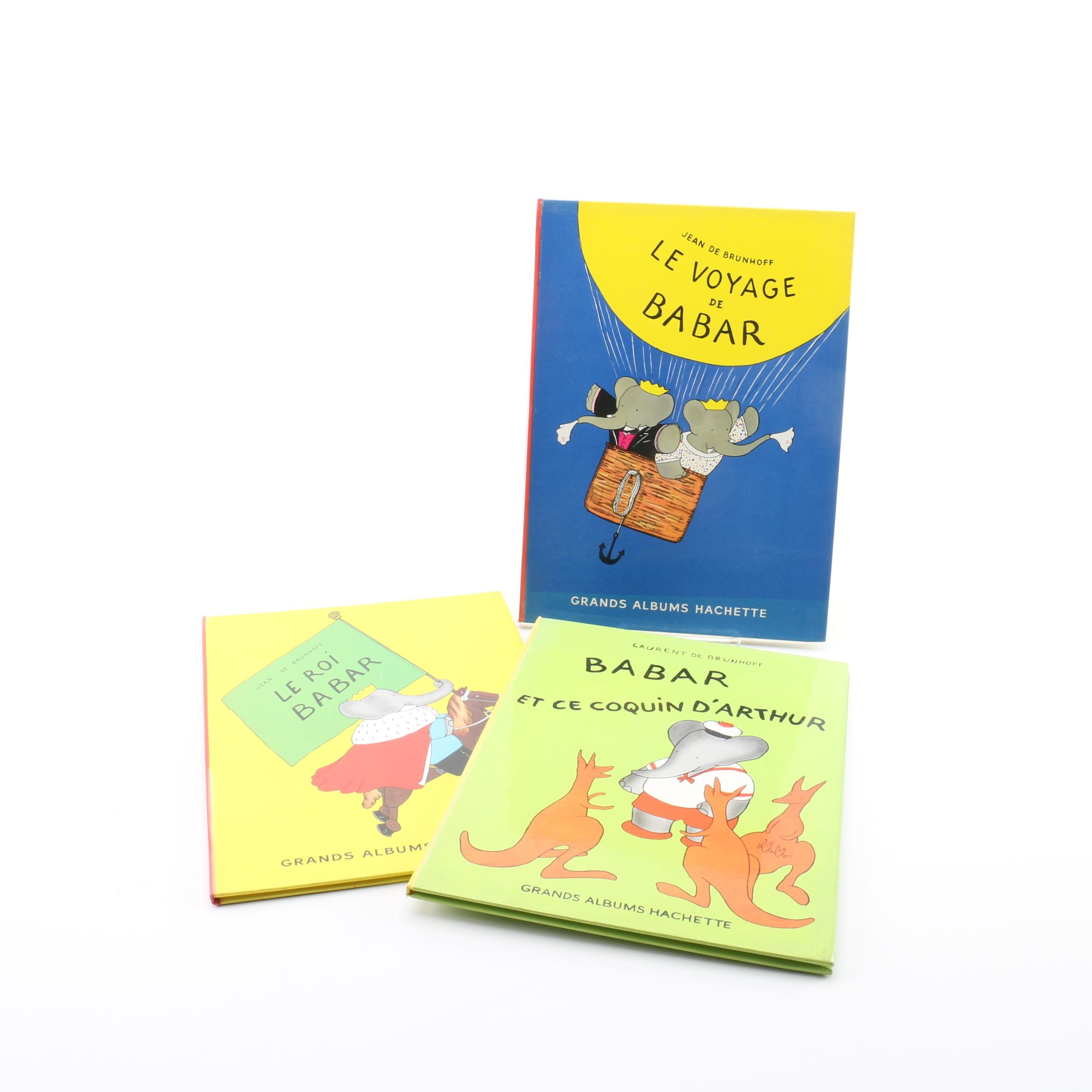 """Vintage French Edition """"Babar"""" Books"""