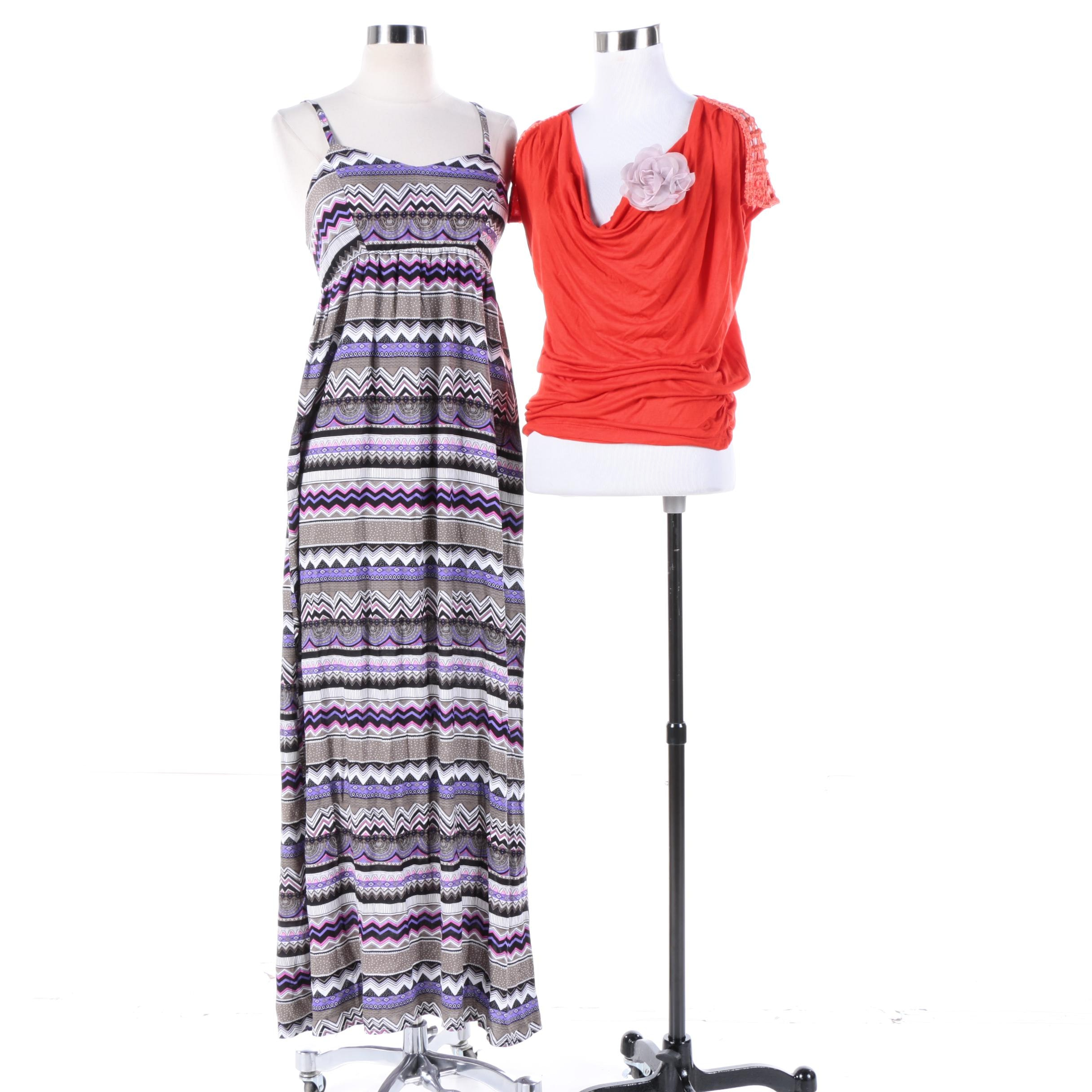 Paradis Mis Striped Maxi and Top