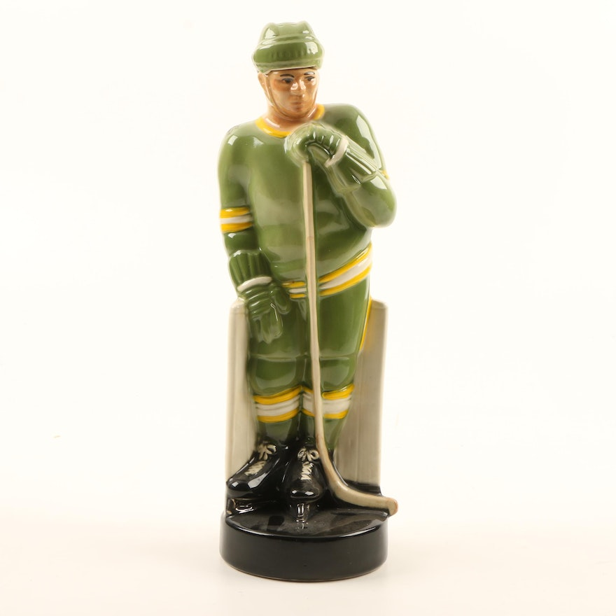 O.B.R. Kentucky Straight Bourbon Whiskey Hockey Player Decanter