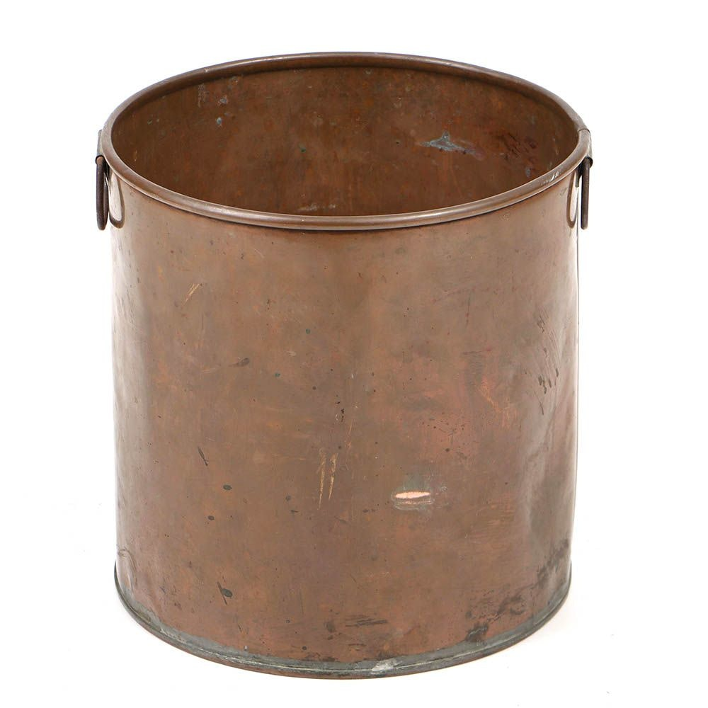 Early 20th Century Copper Double-Handled Bucket