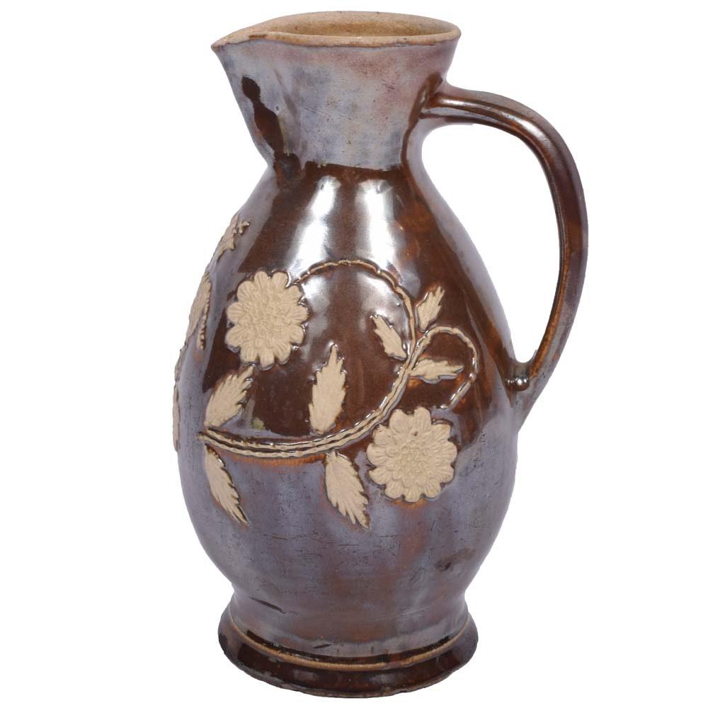 Antique Salt Glaze Pottery Jug