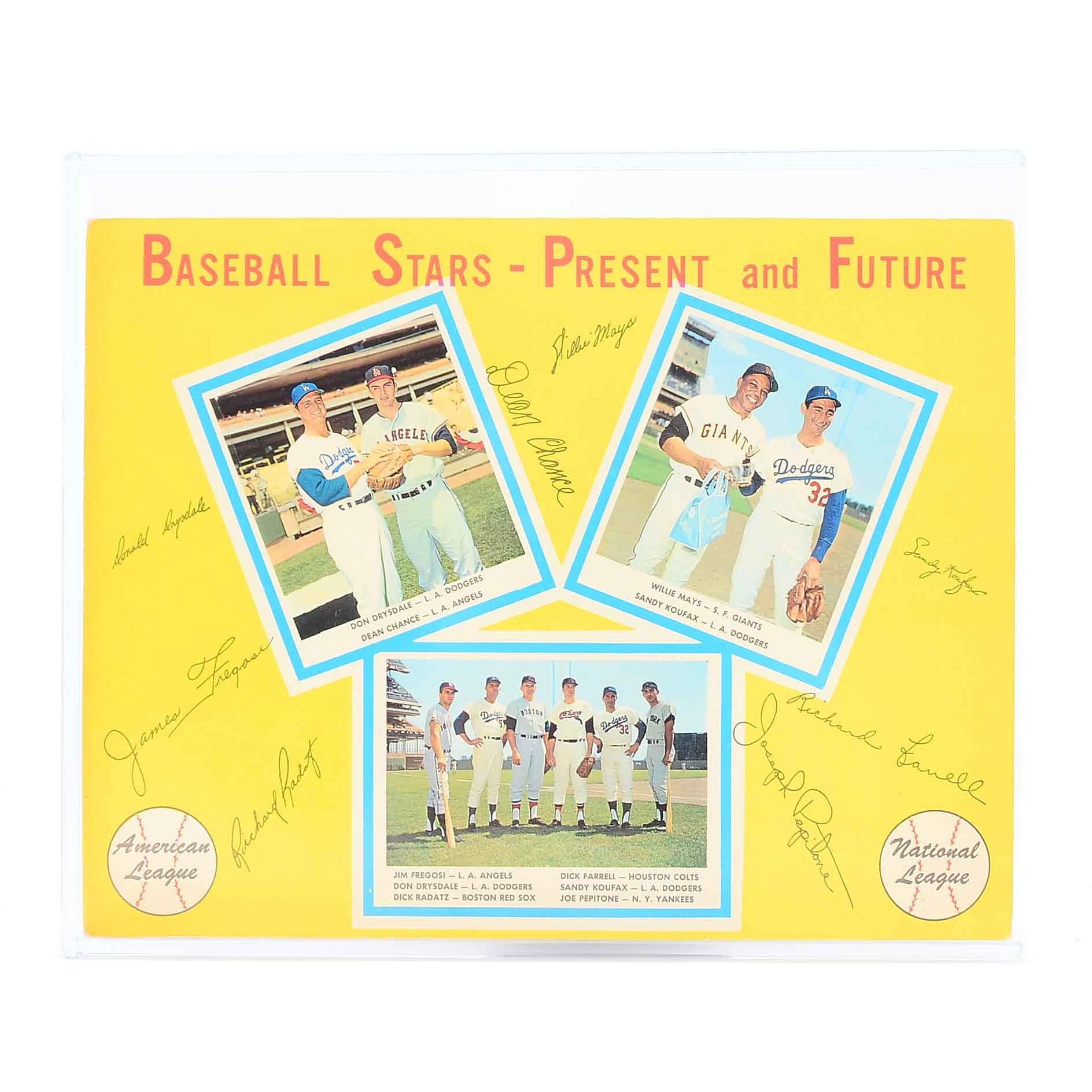 "Early 1960s ""Baseball Stars"" AL/NL Advertising Poster"