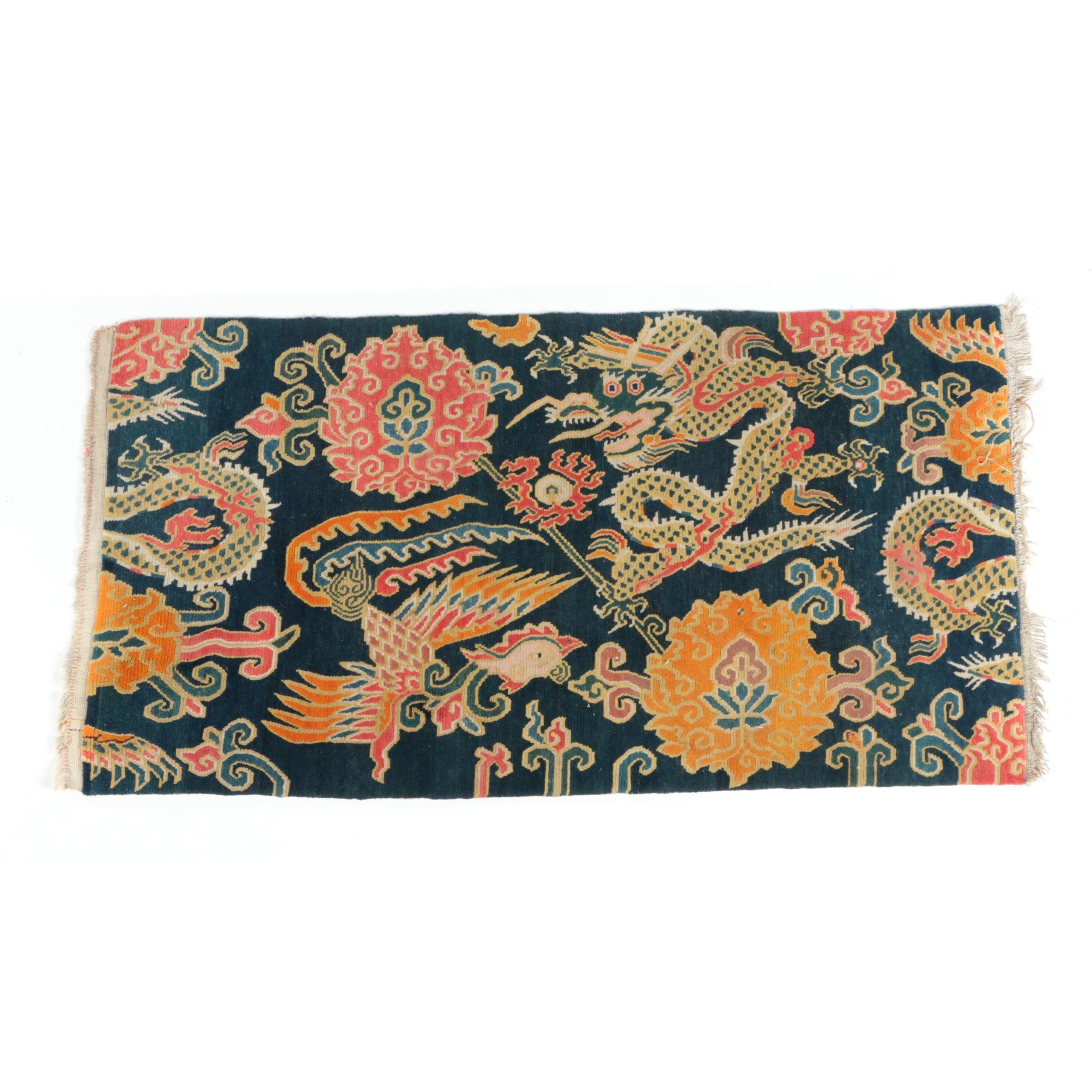 Hand-Knotted Nepalese Wool Accent Rug