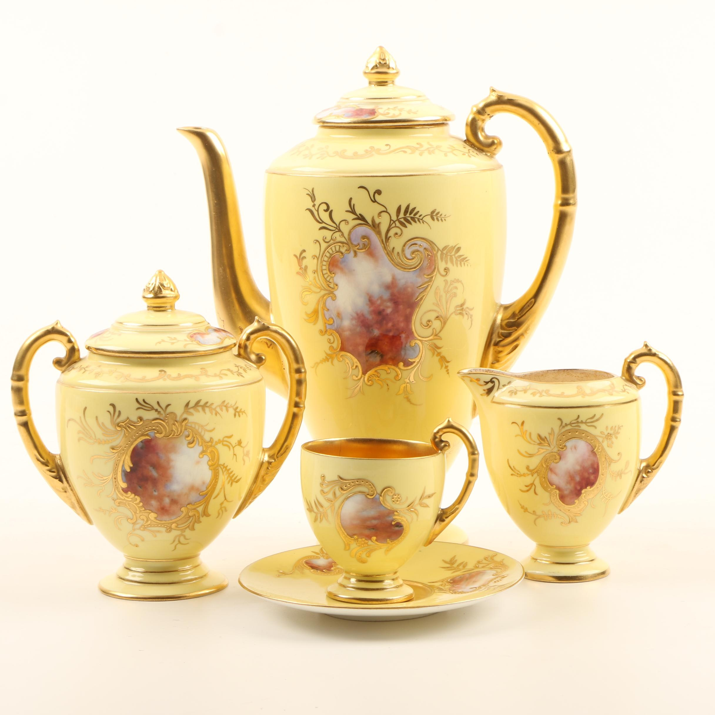 Early 20th Century English Coalport China Coffee Service Set