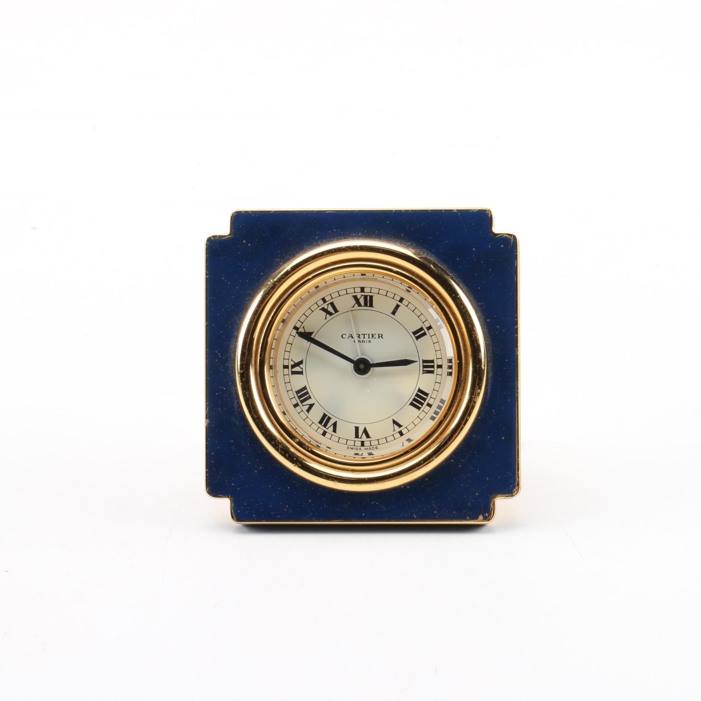 Vintage Cartier Travel Alarm Clock