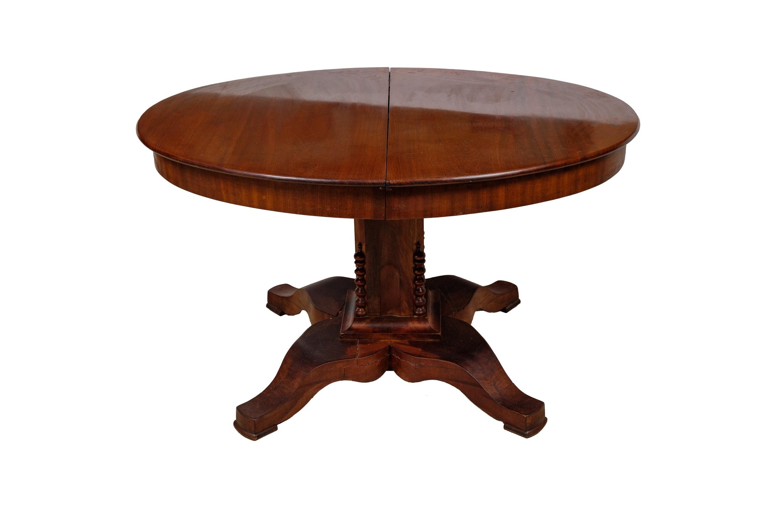 Antique Swedish Mahogany Dining Table, Circa 1850