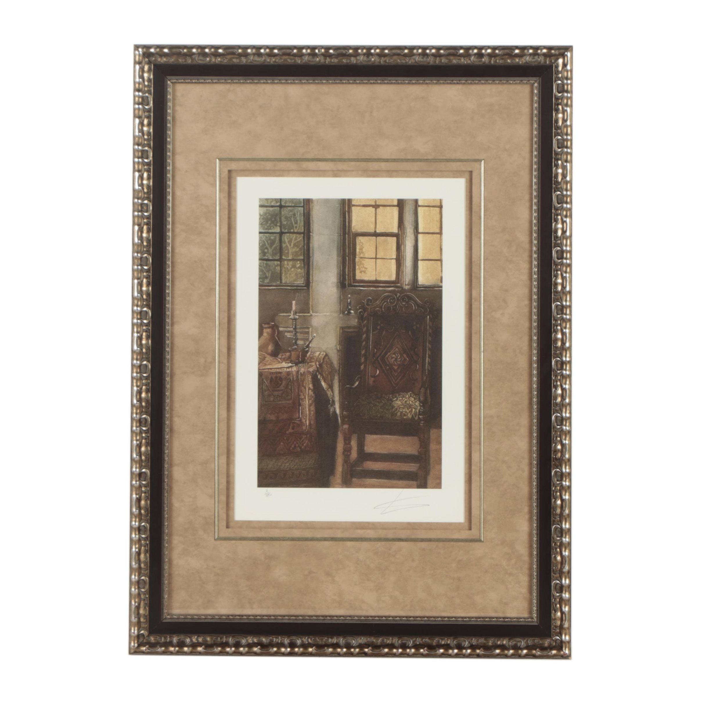 Giclee Limited Edition Reproduction Print of an Interior Scene