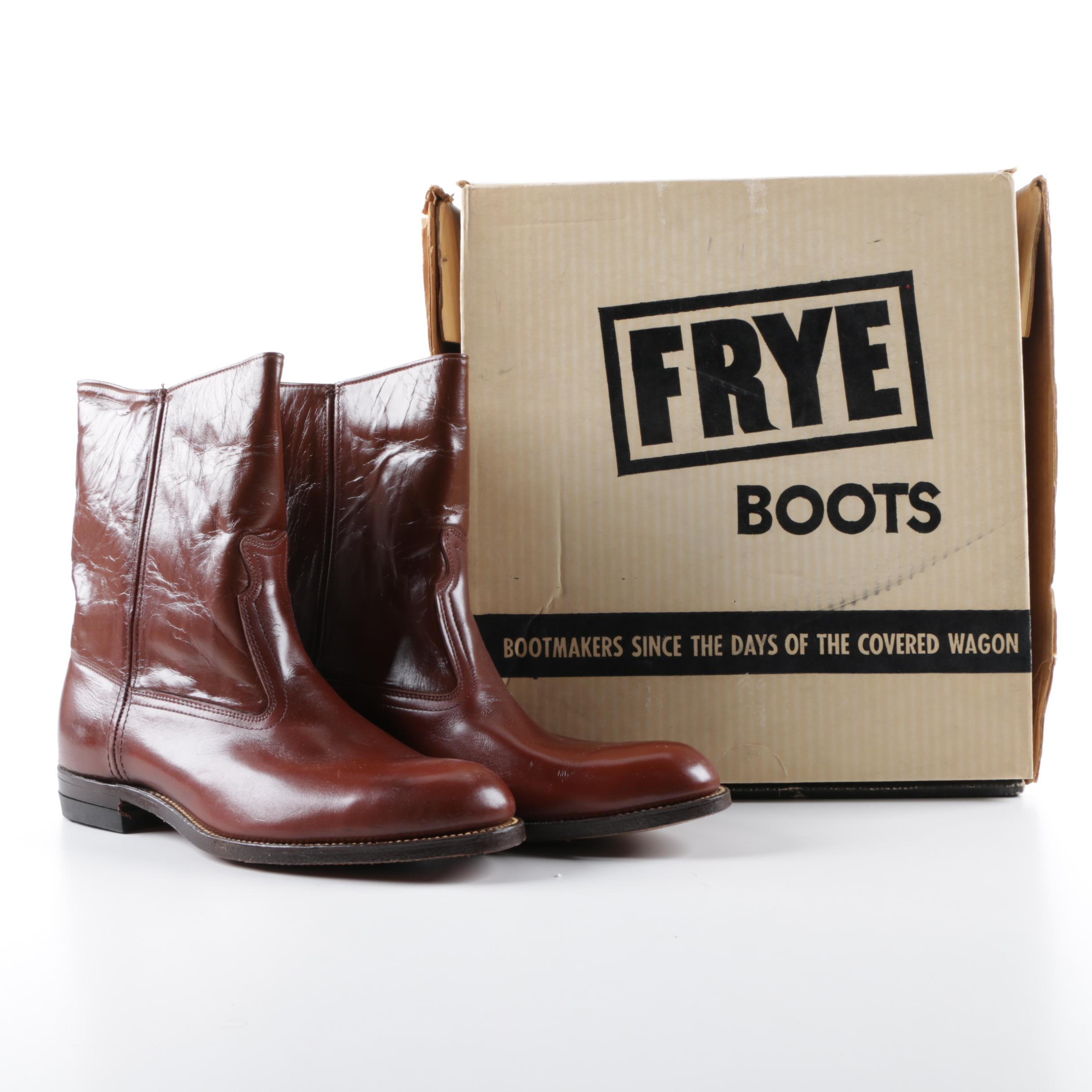 Frye Jet Boots Brown Leather Boots