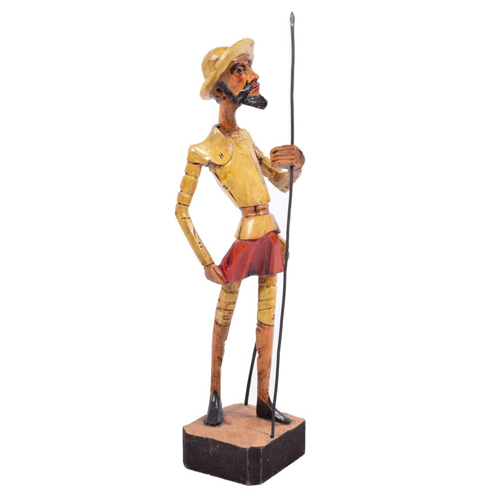 Vintage Don Quixote Sculpture
