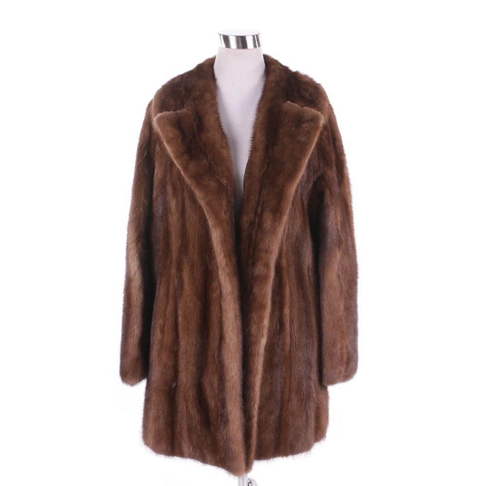Women's Vintage Ben Spector Brown Mink Fur Coat