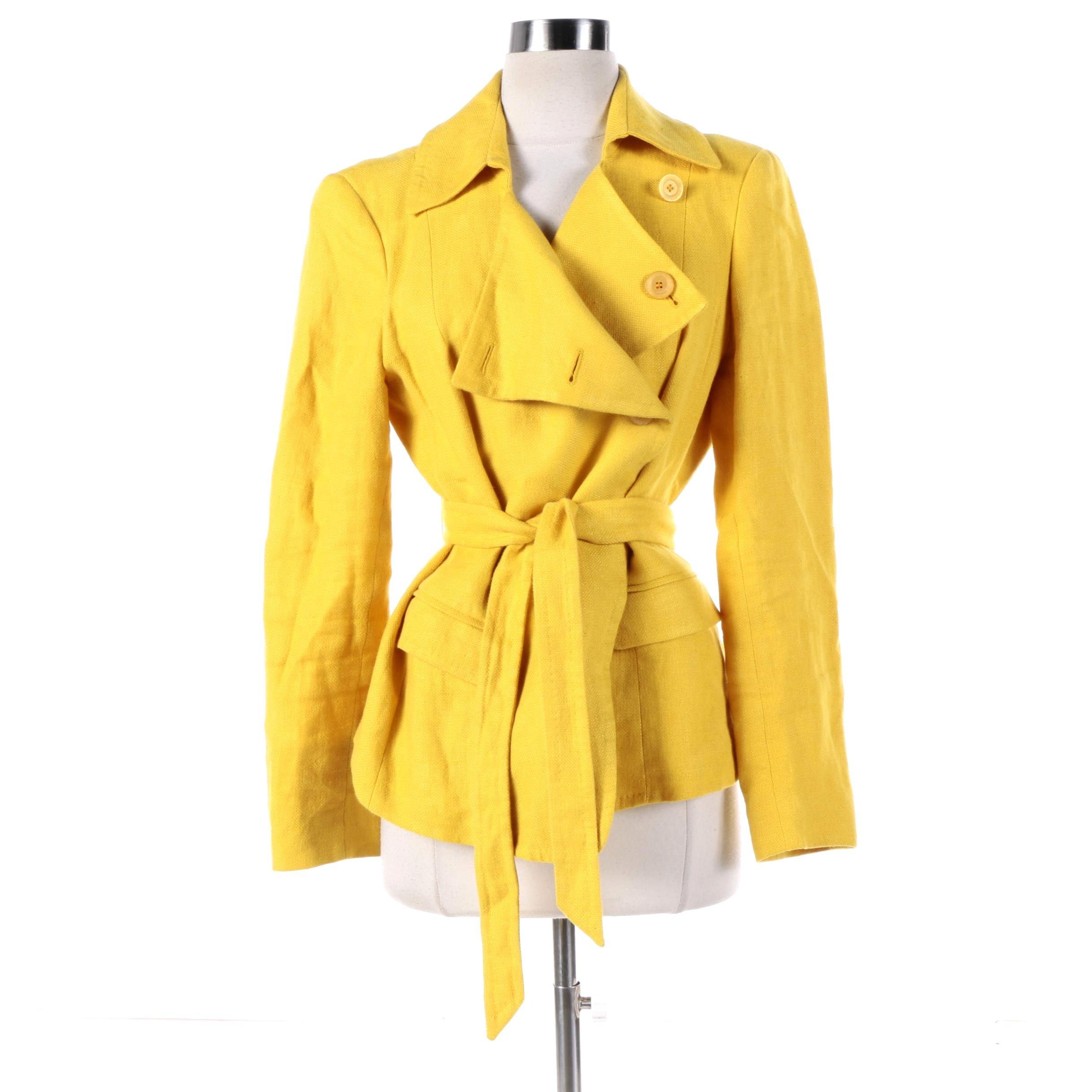 Women's Max Mara Yellow Linen Jacket