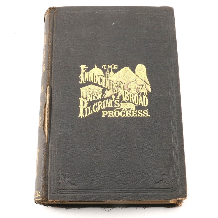 1889 The Innocents Abroad Or The New Pilgrims Progress By Mark