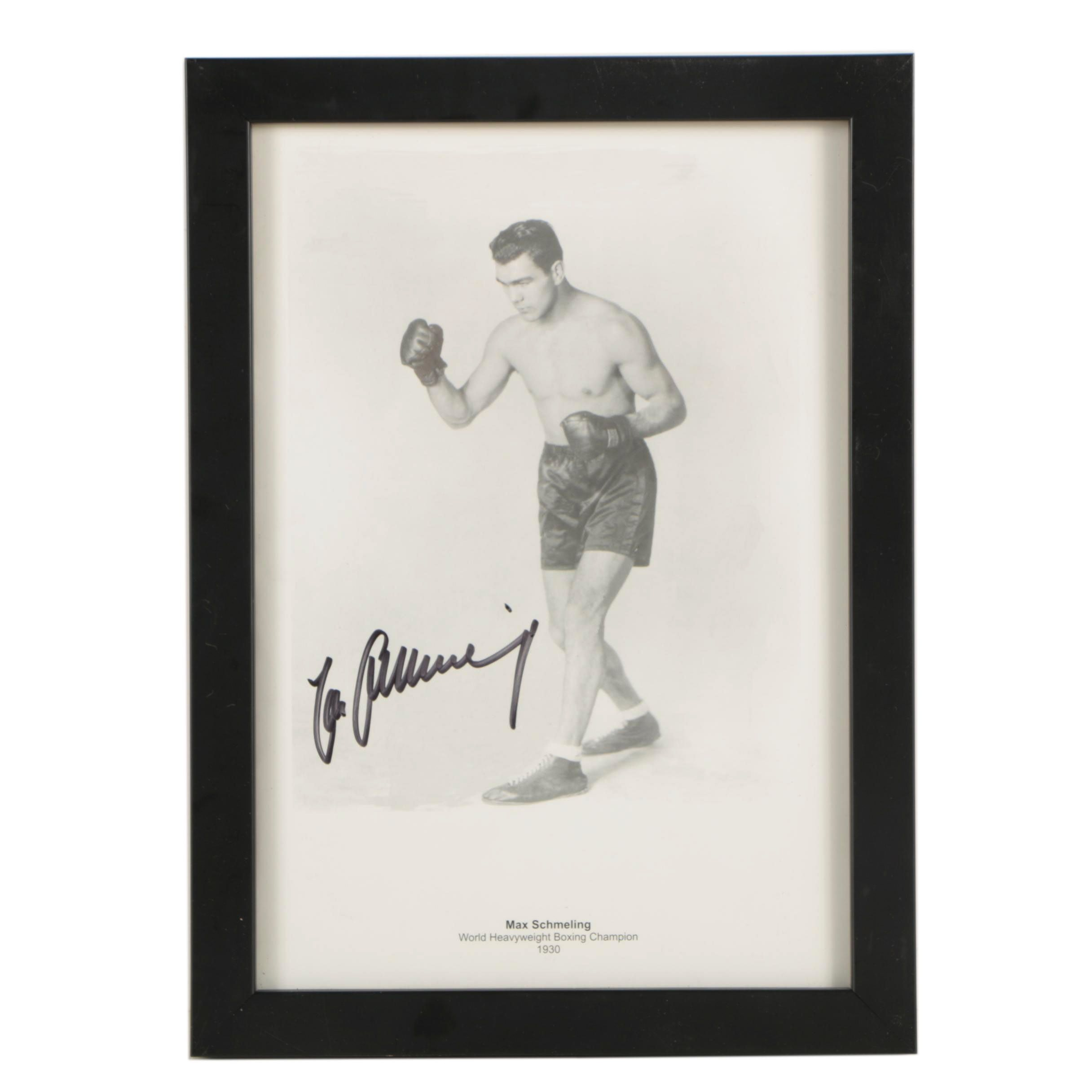 Max Schmeling Autographed Print