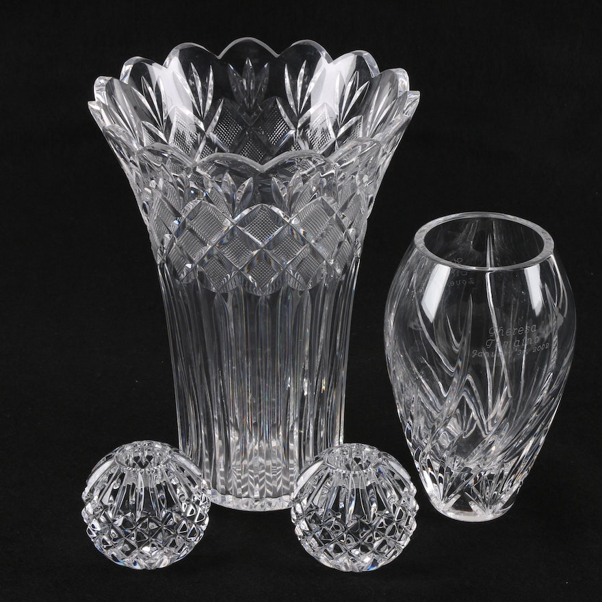 Waterford Crystal Including Irish Lace Vase Ebth