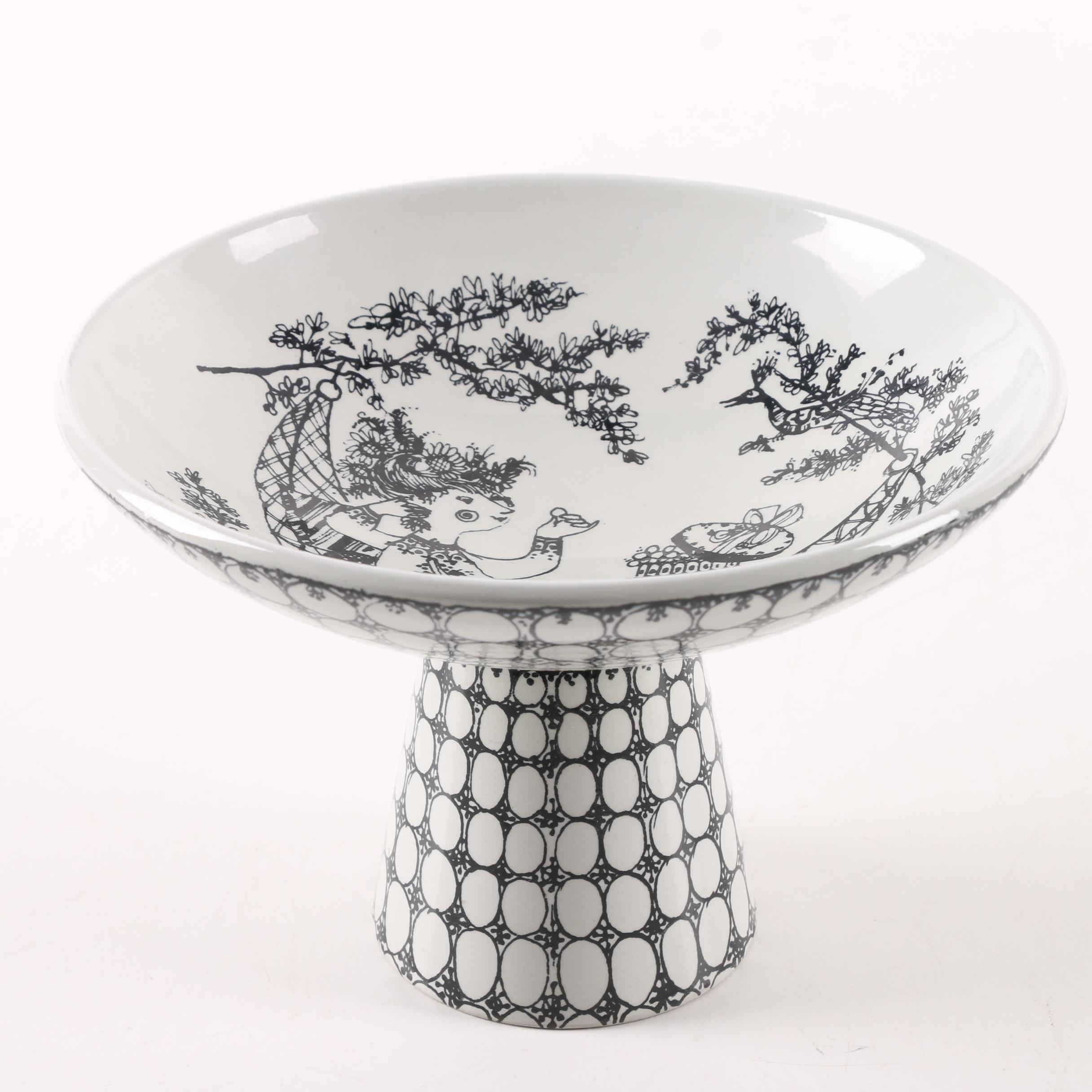 "Bjørn Wiinblad ""Pralinè"" Ceramic Compote for Nymolle"