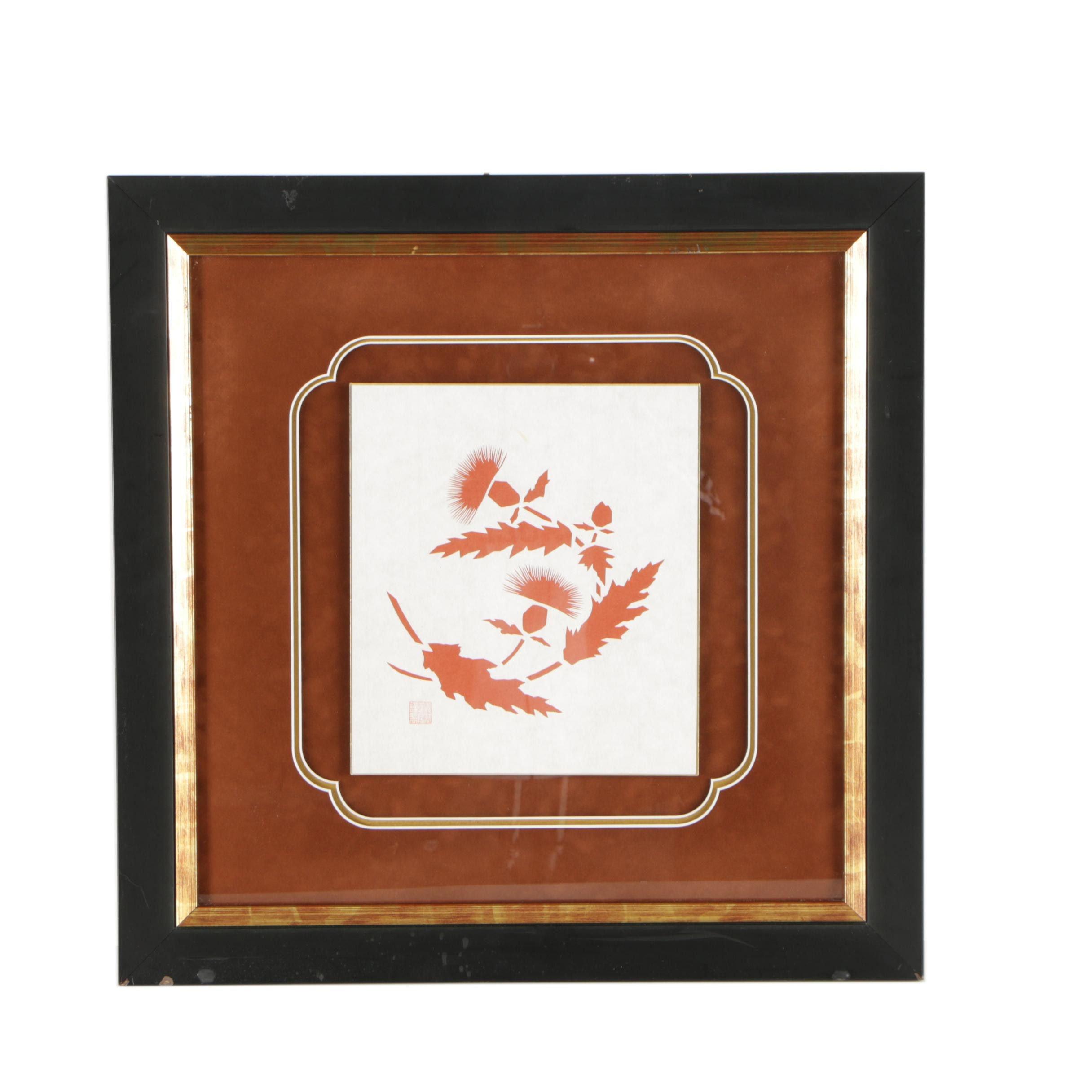 East Asian Cut Paper Composition