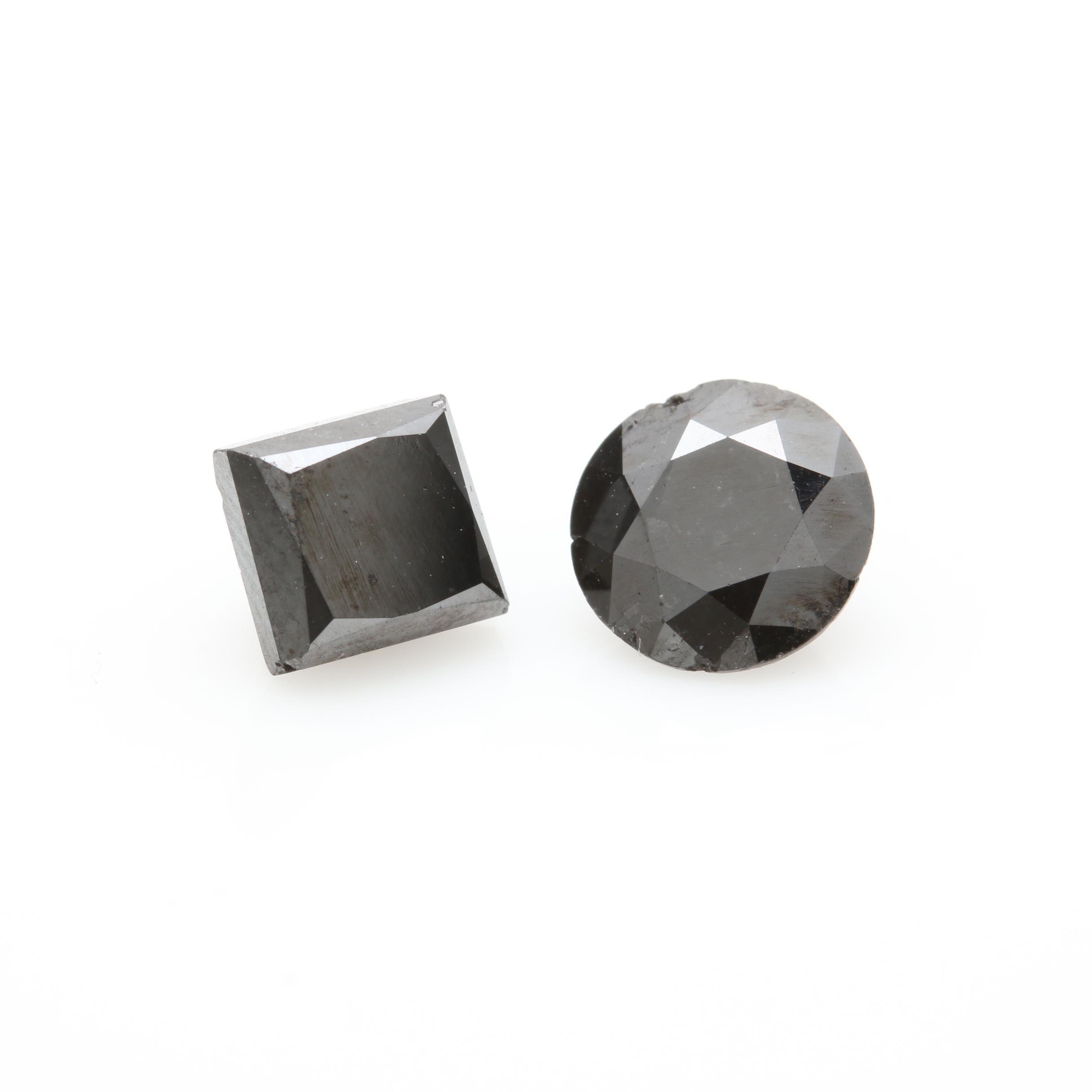 Loose 2.60 CTW Black Diamonds