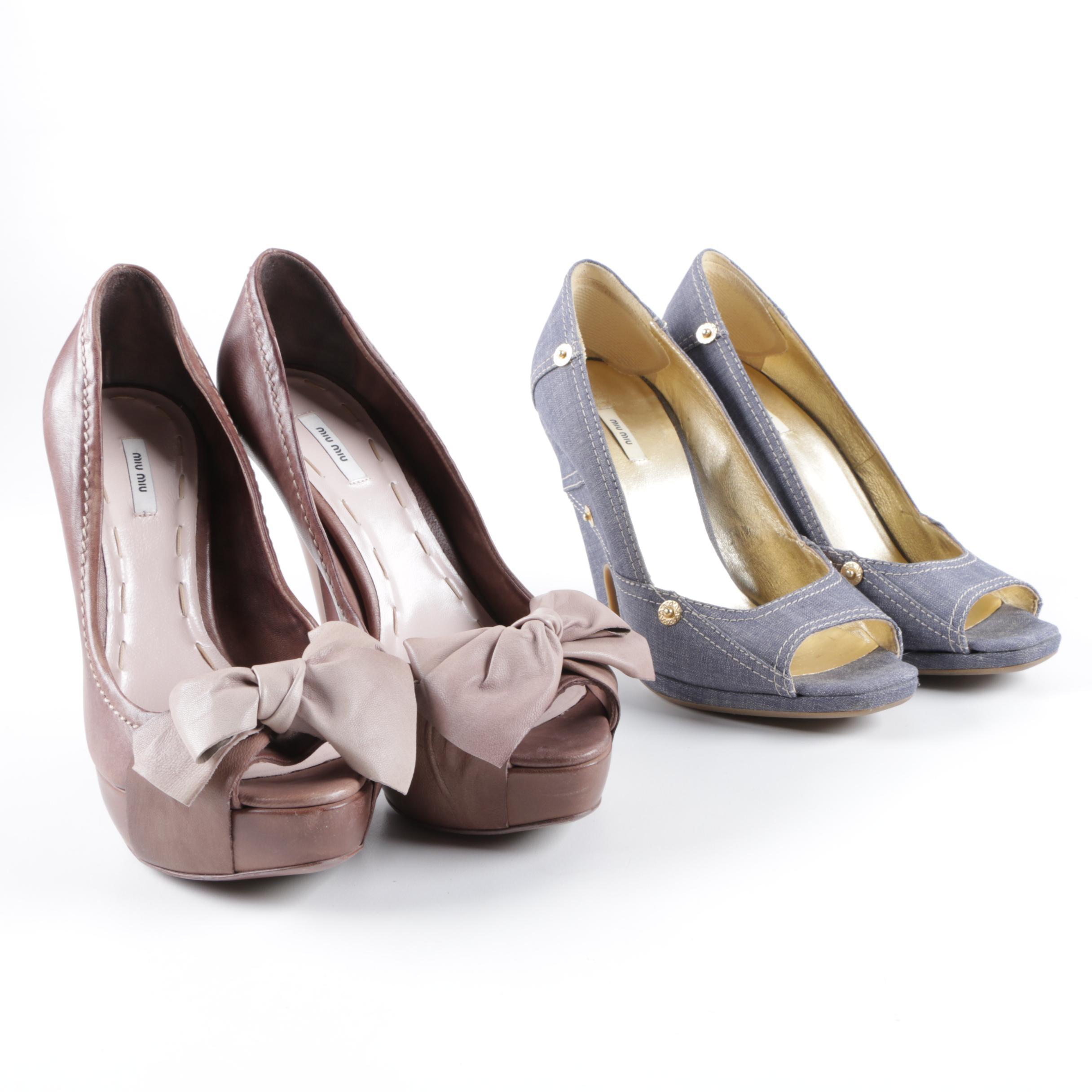 Two Pairs of Miu Miu Heels