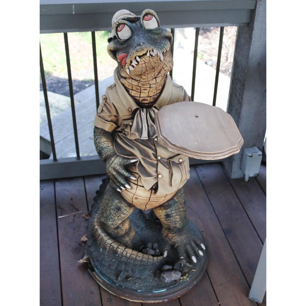 Large-Scale Alligator Sculpture
