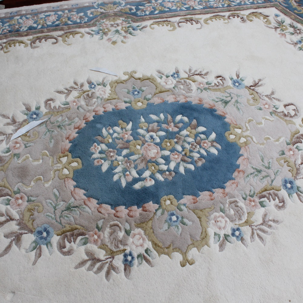 Vintage Hand Knotted Indo-Chinese Room Size Rug by Amiri