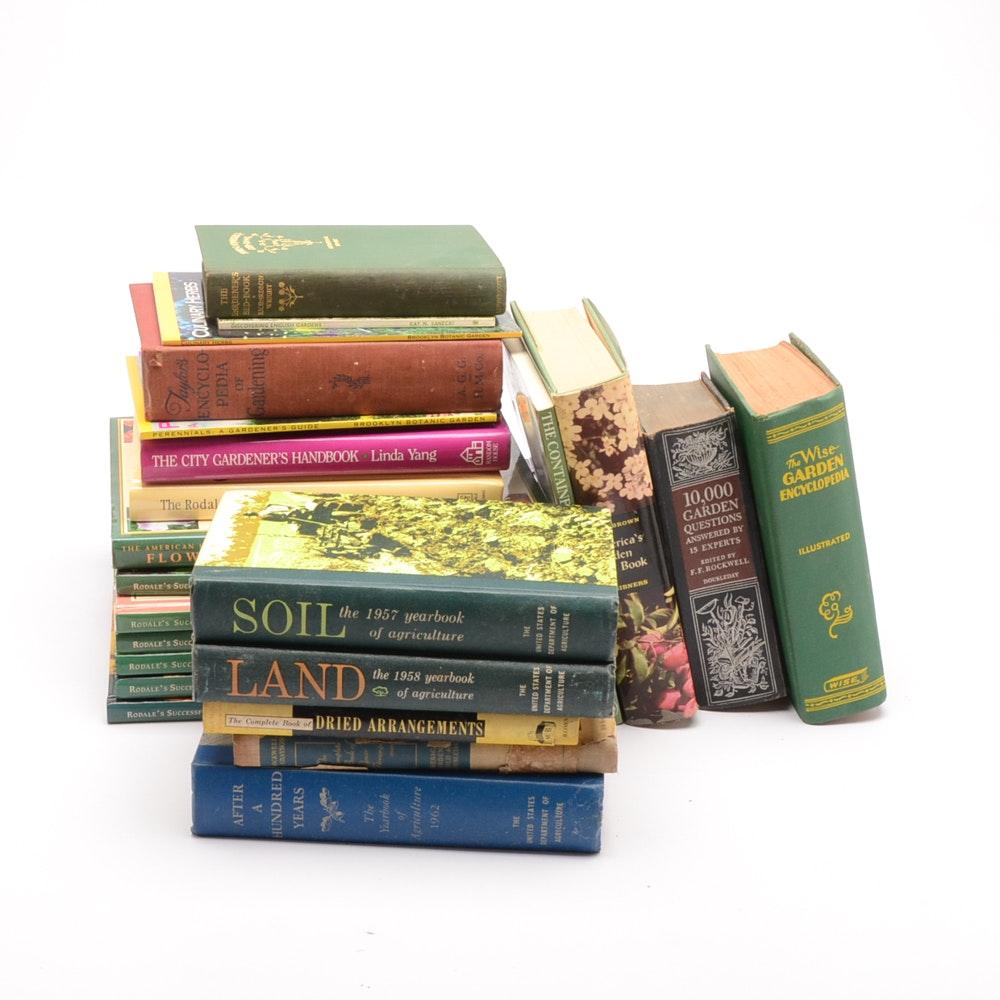 Group of Gardening Books