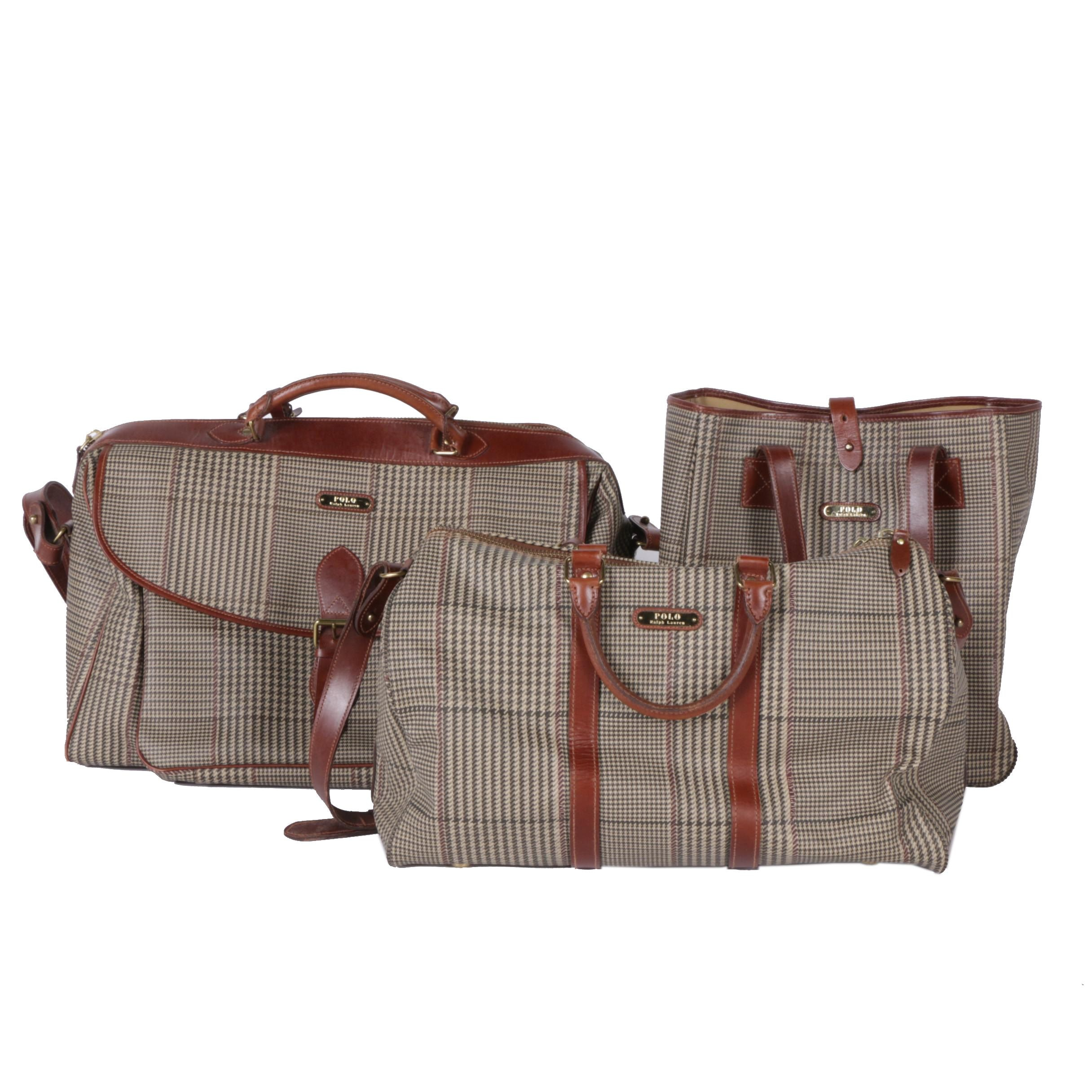 Polo Ralph Lauren Coated Canvas and Leather Luggage Set ...