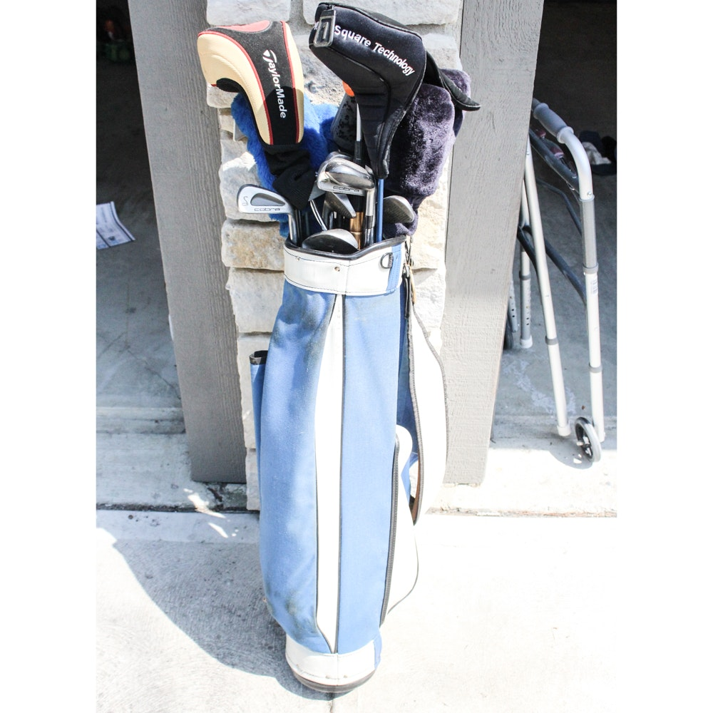 Golf Bag and Clubs Featuring Dynacraft