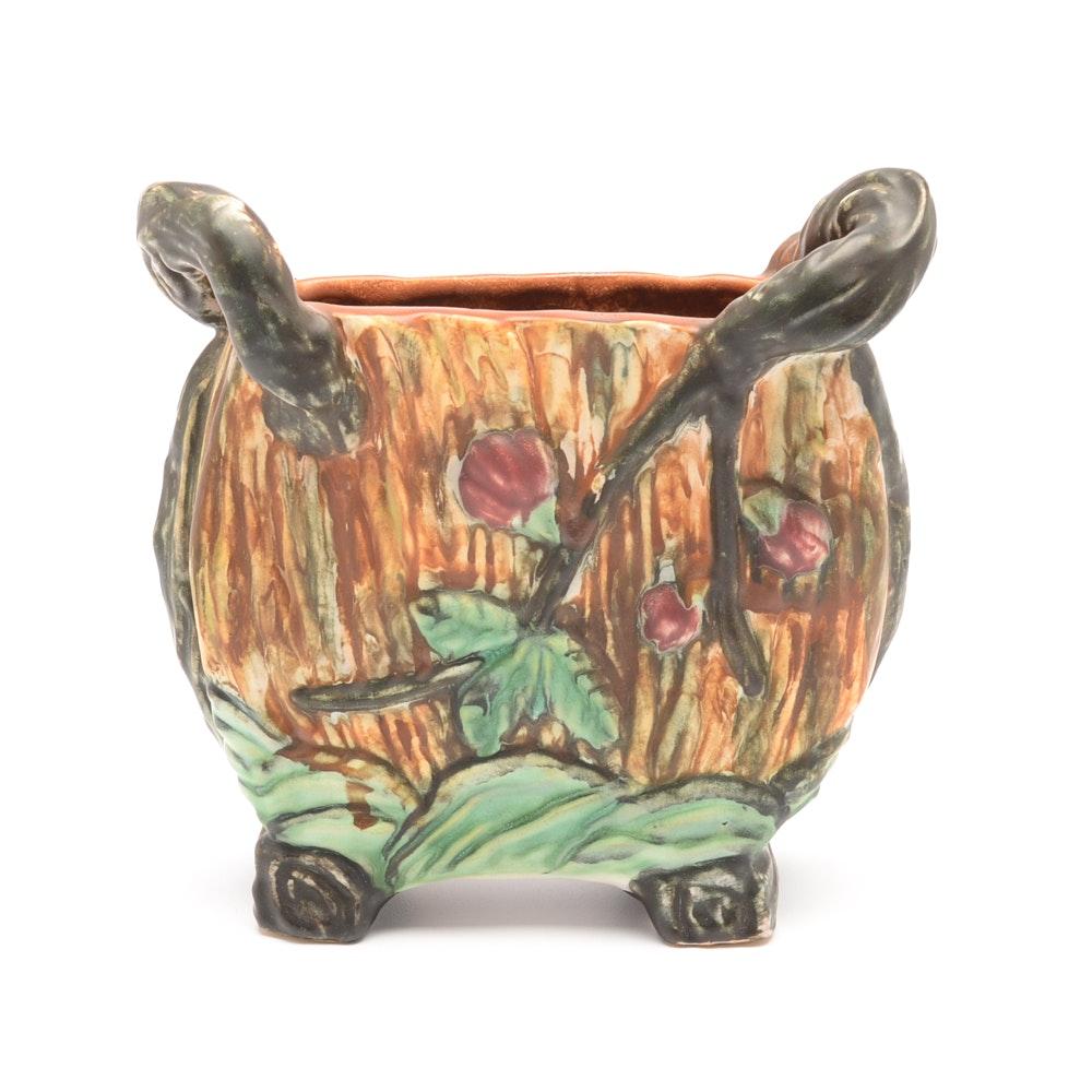 """1920s  Weller """"Warwick"""" Duo Handled  Vase"""