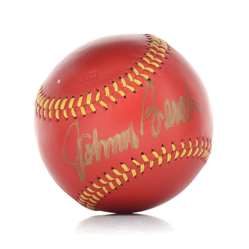 """Johnny Bench Signed """"Spinneybeck"""" Baseball COA"""