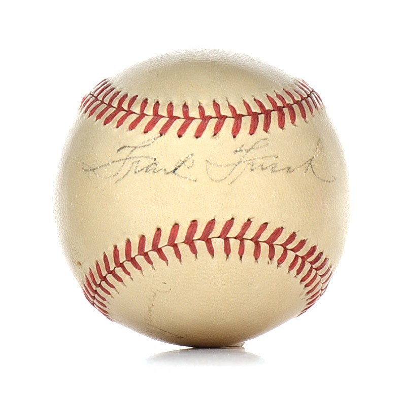 Frankie Frisch Signed Baseball  COA