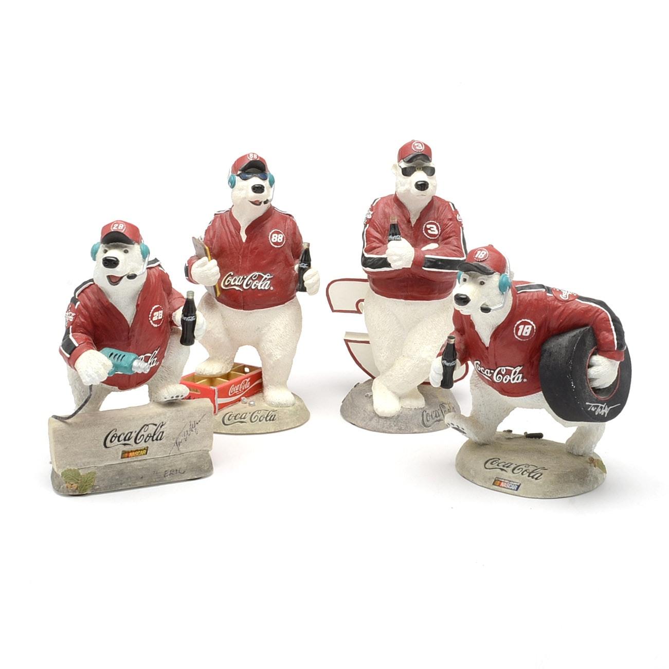 """Four Contemporary """"Coca-Cola"""" Bear Figures"""