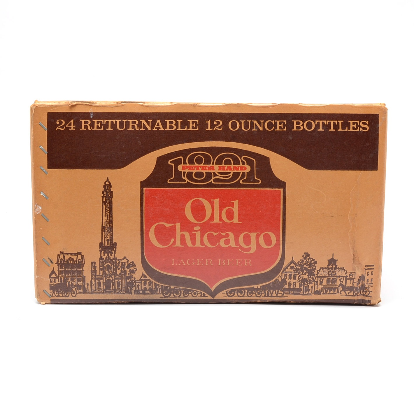 """1973 """"Old Chicago"""" Lager Beer Cardboard Case"""