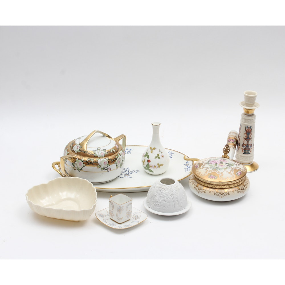 Porcelain Collection with Belleek, Limoges and Wedgwood