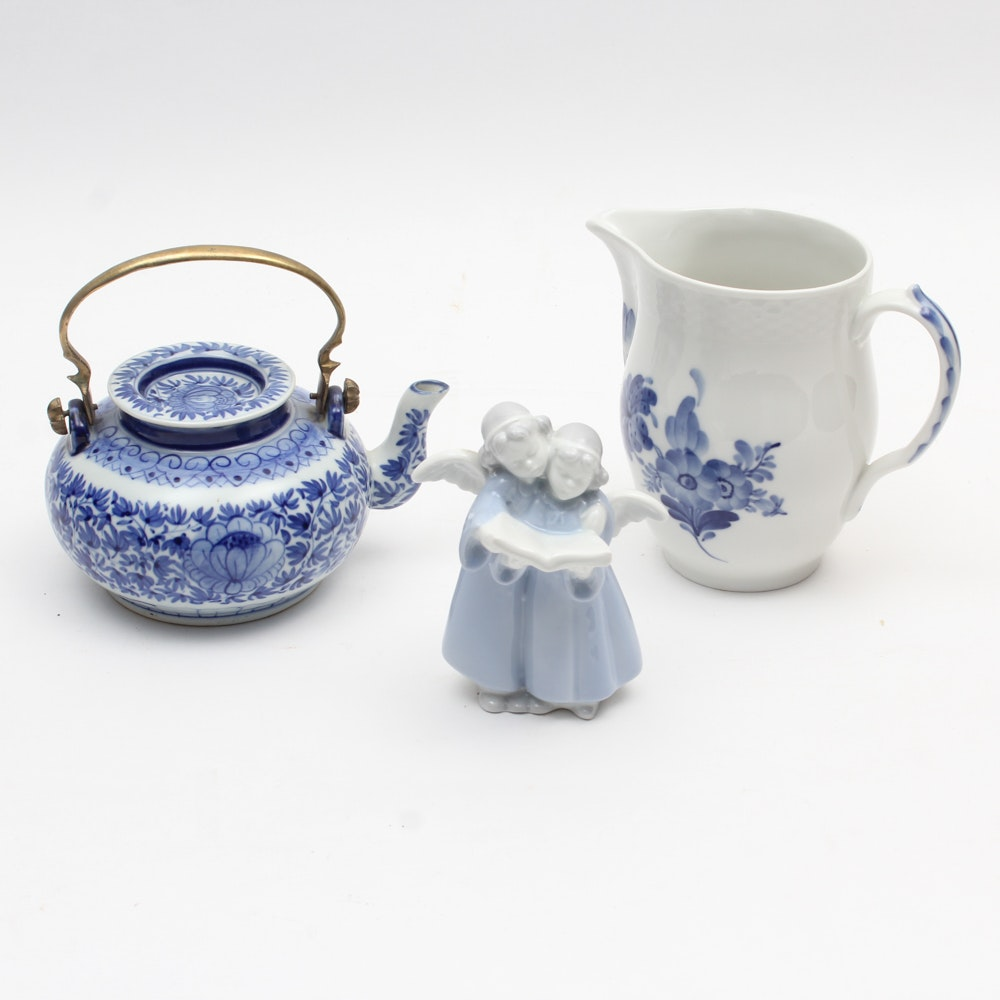 Blue and White Porcelain Collection featuring Royal Copenhagen